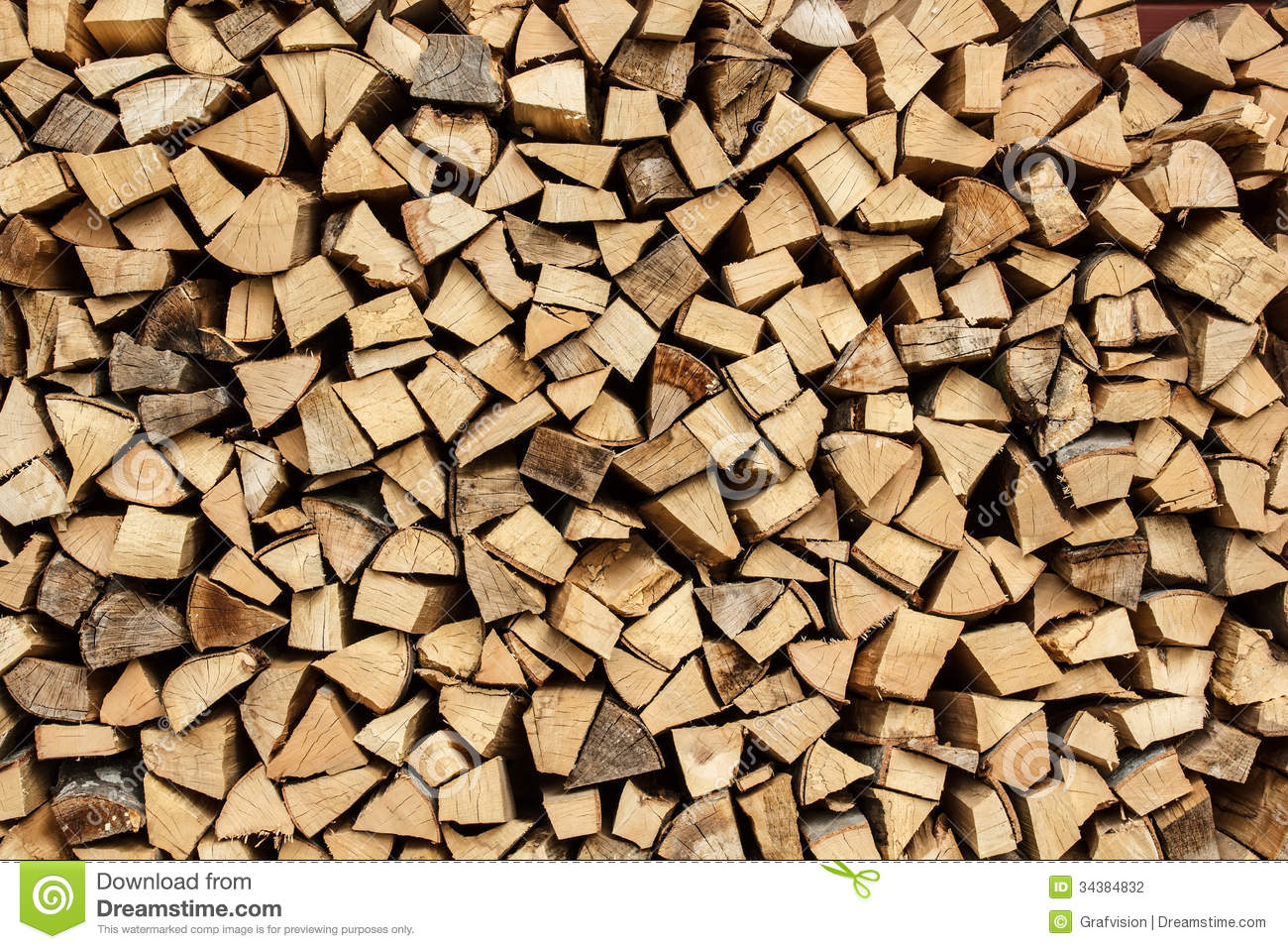 Pile Of Chopped Fire Wood Stock Photography Image 34384832