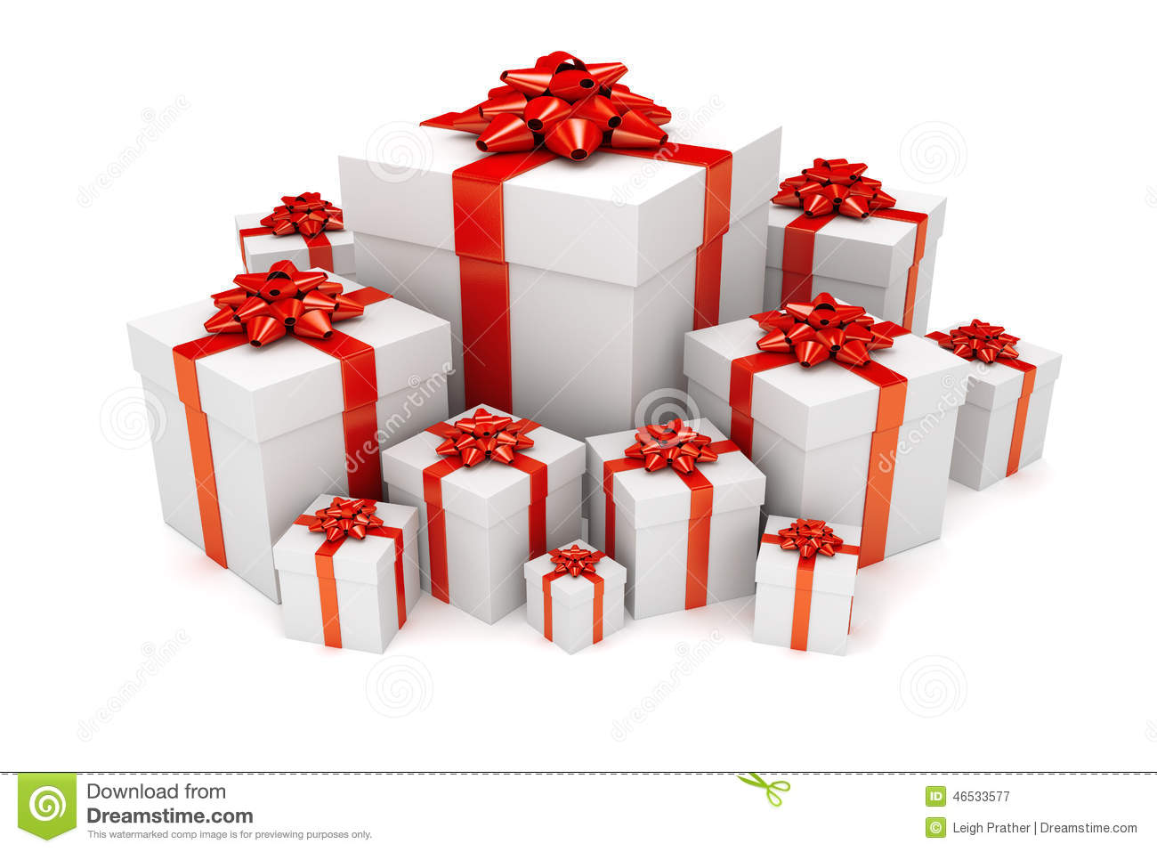 Pile Of Christmas Or Birthday Presents Stock Illustration - Image ...
