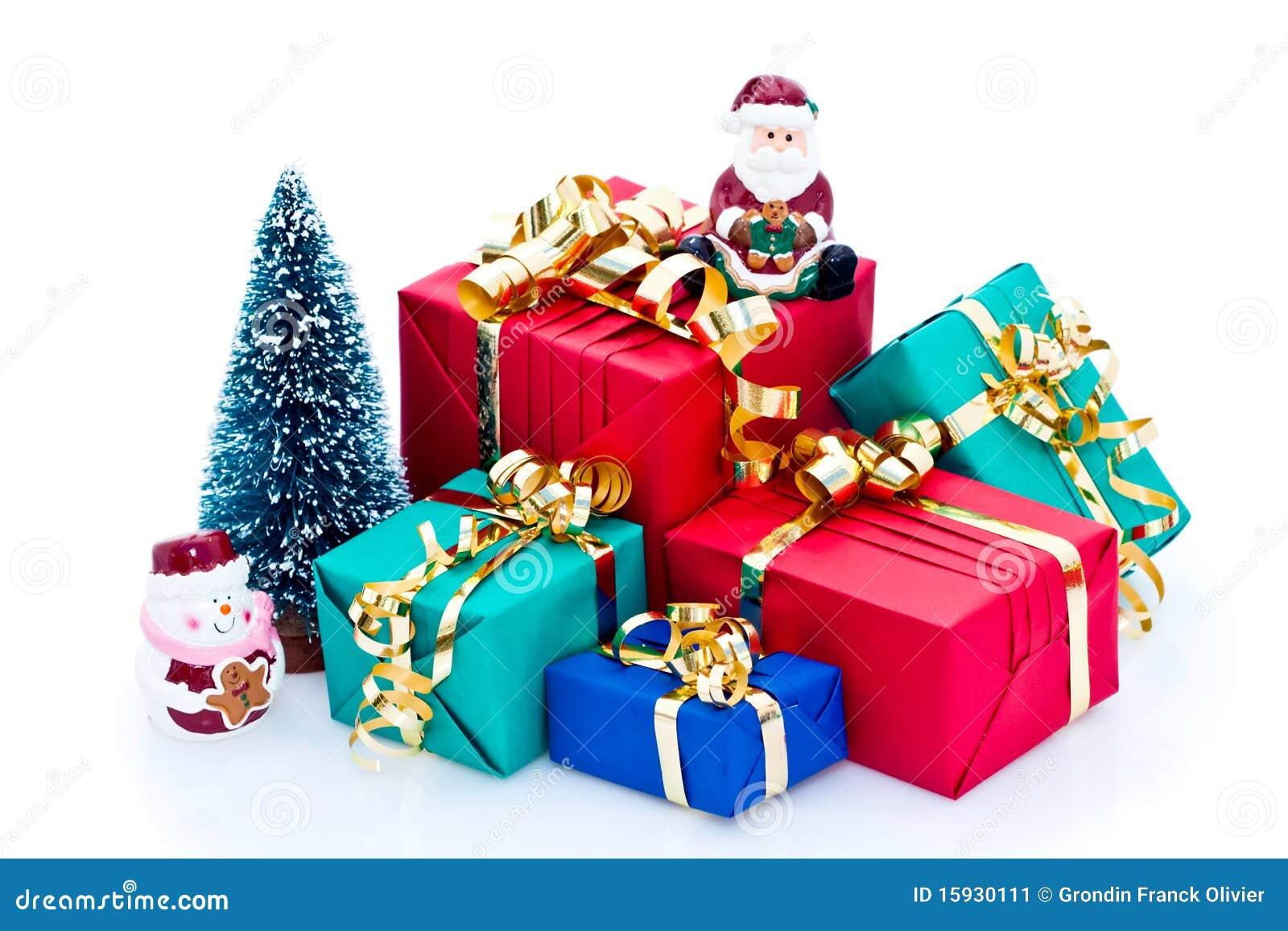Pile Of Christmas Presents Stock Image - Image: 15930111