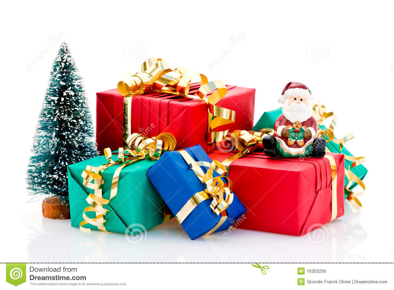 Pile Of Christmas Presents Royalty Free Stock Image