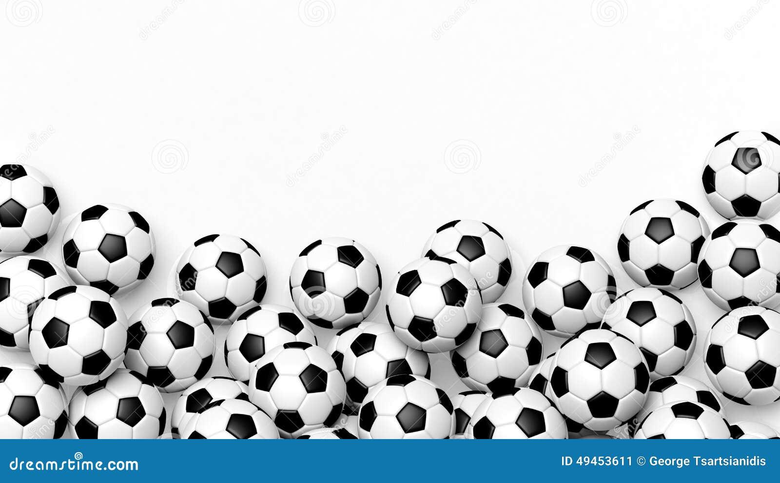 Pile Of Classic Soccer Balls Stock Illustration - Image ...