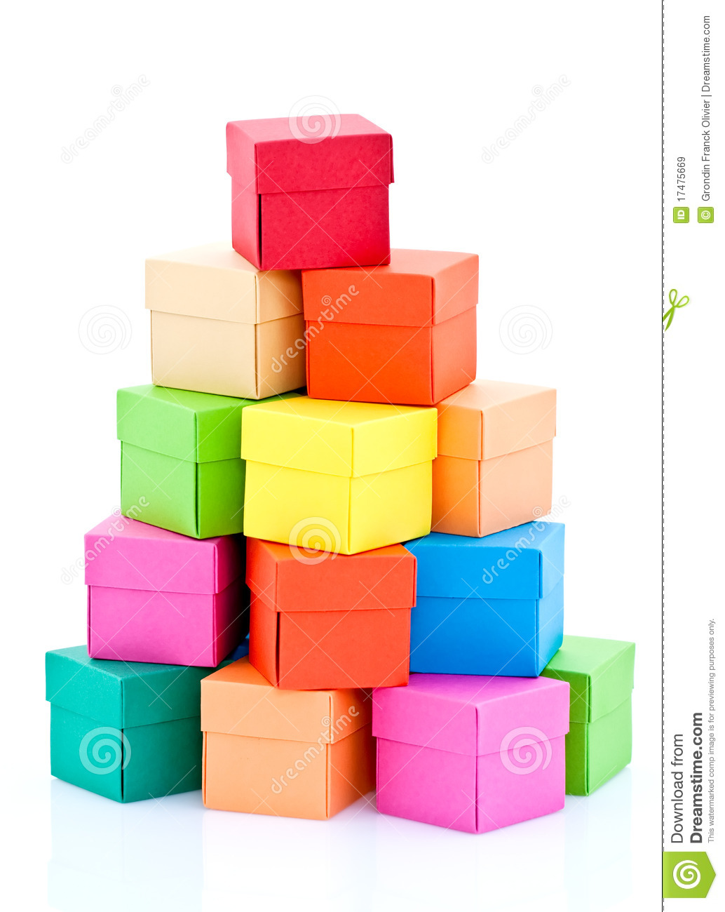 pile of colored boxes royalty free stock images image