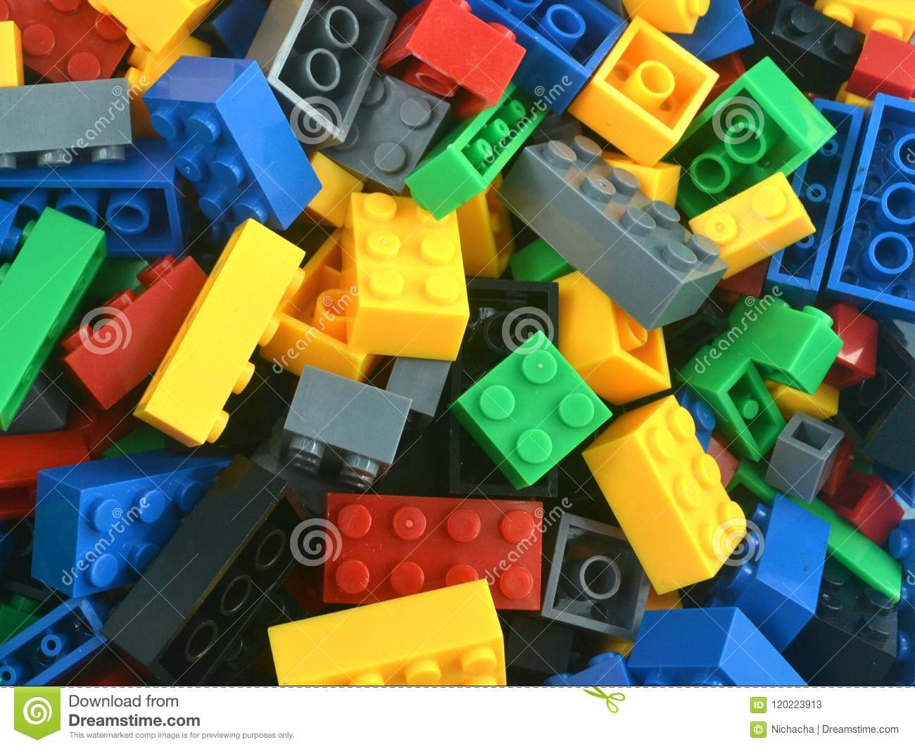 A Pile Of Colorful Lego Blocks Stock Image - Image of various