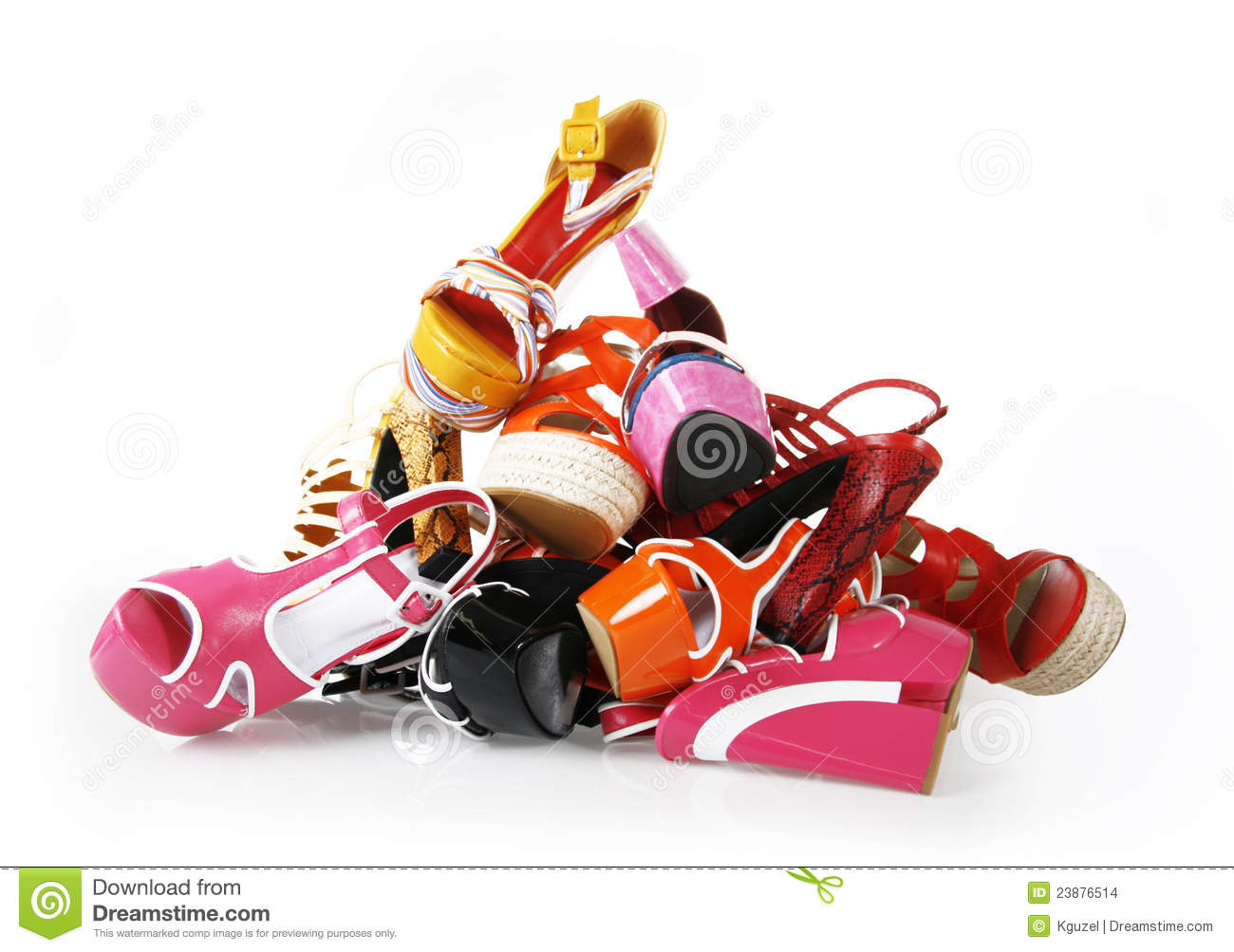 Pile Of Colorful Shoes Stock Images - Image: 23876514