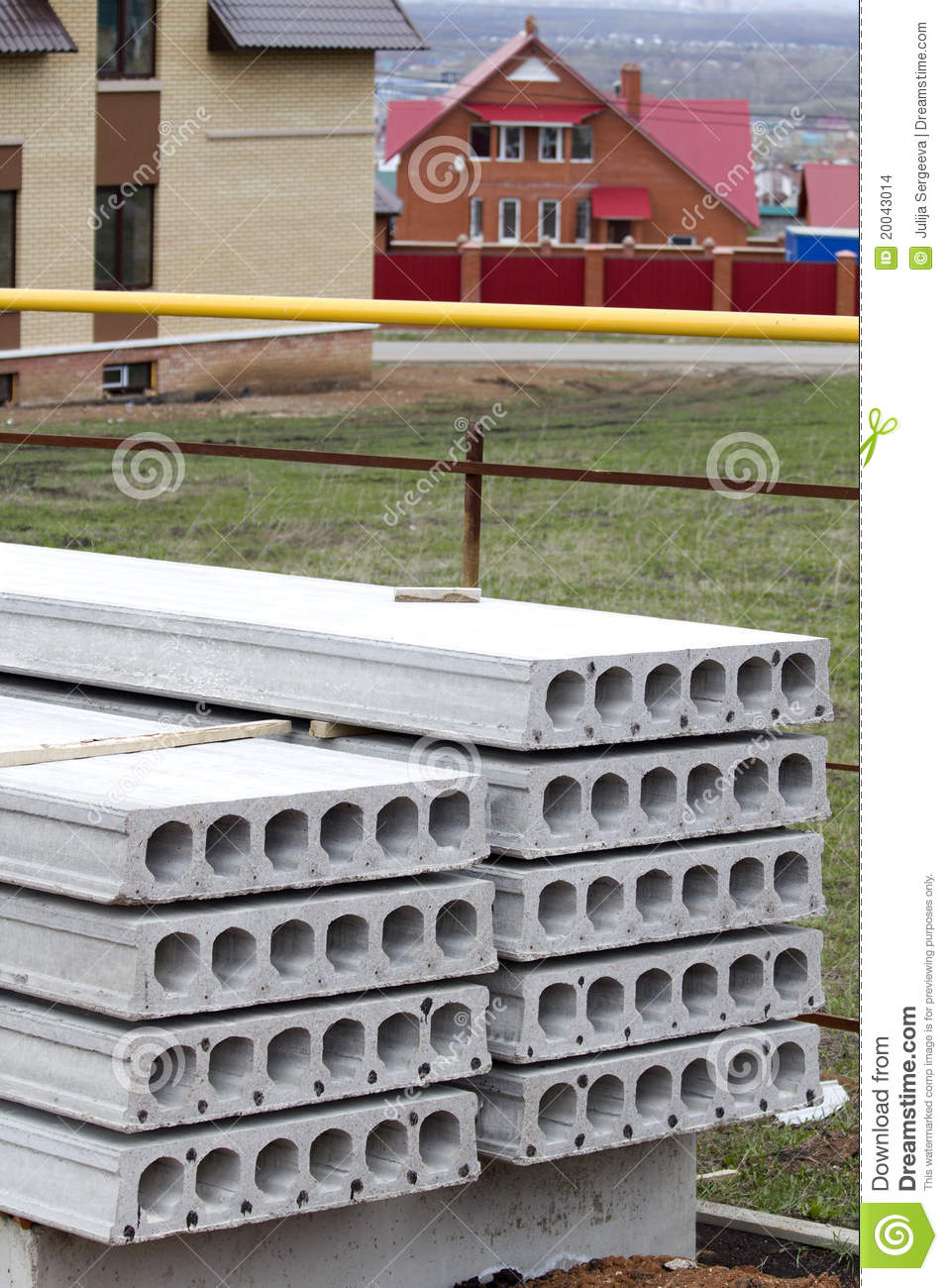 Pile concrete slab construction house stock photo image for Concrete pilings for house