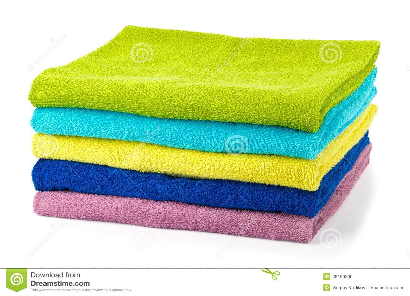 Pile d 39 essuie main color s de salle de bains photo stock for Porte essuie salle de bain