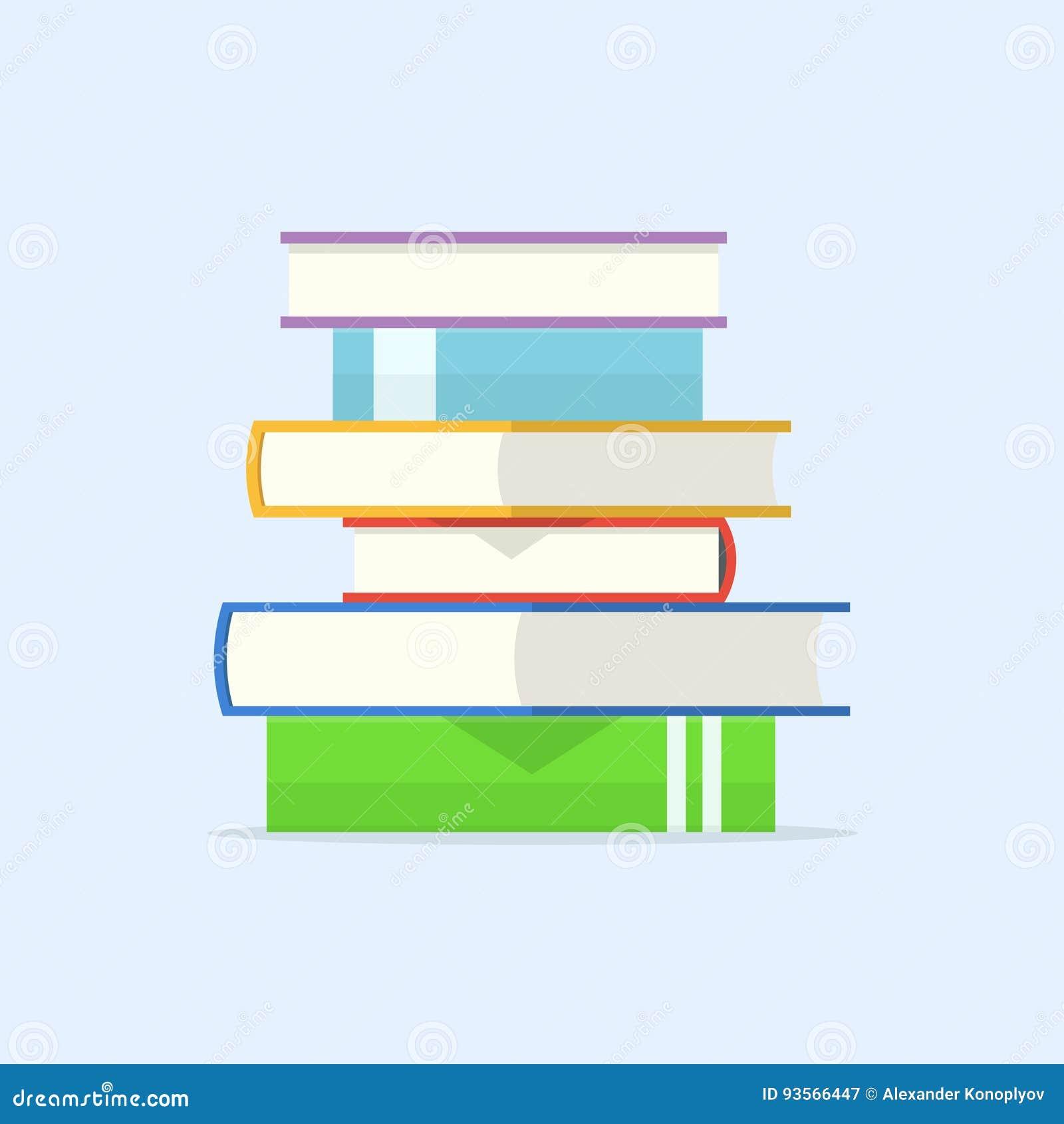 Pile d illustration de vecteur de livres