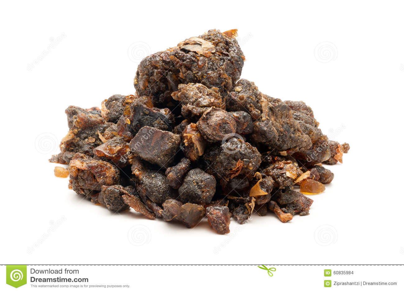 Pile de bdellium indien organique