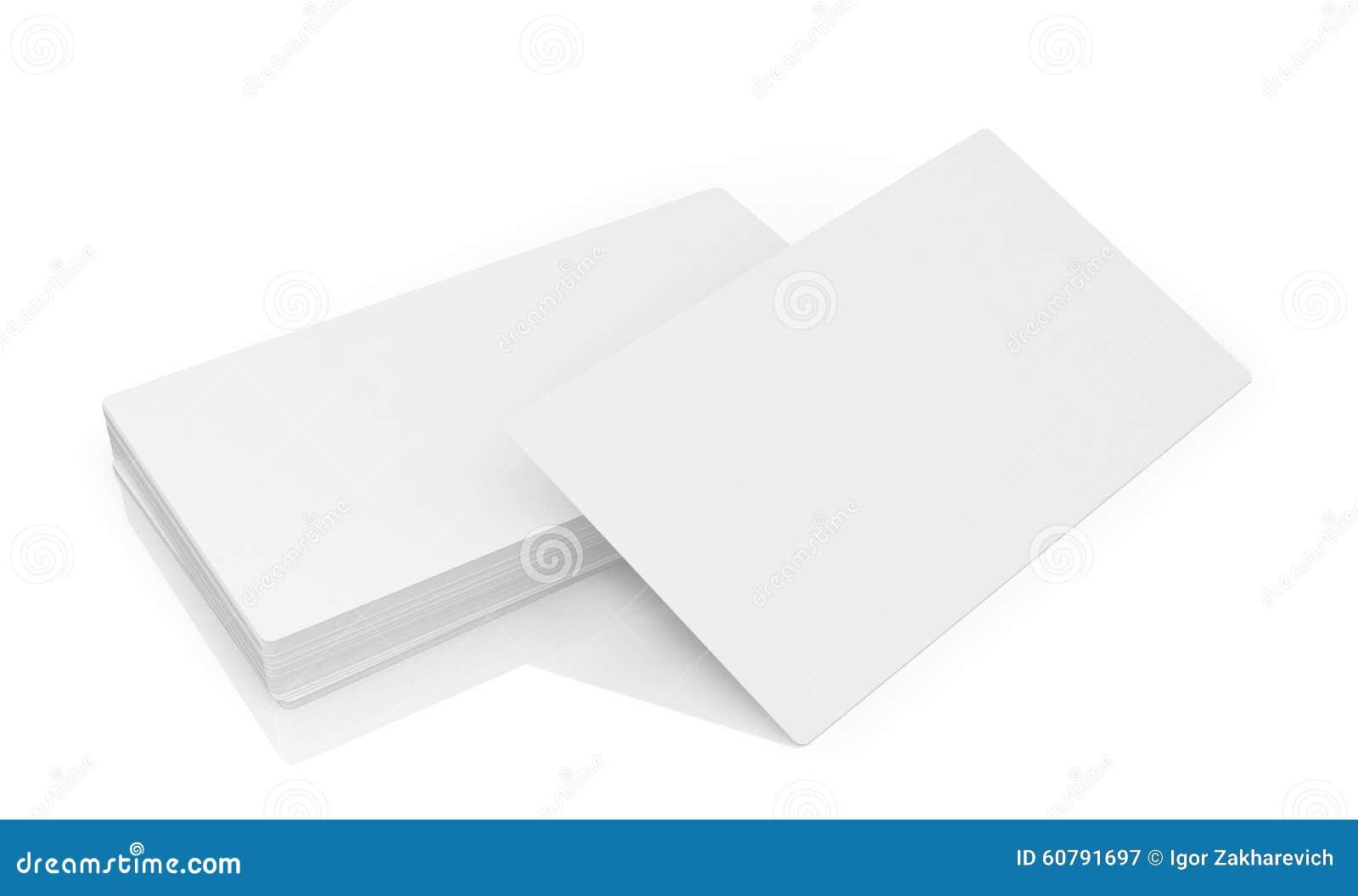 Pile De Cartes Visite Professionnelle Blanches