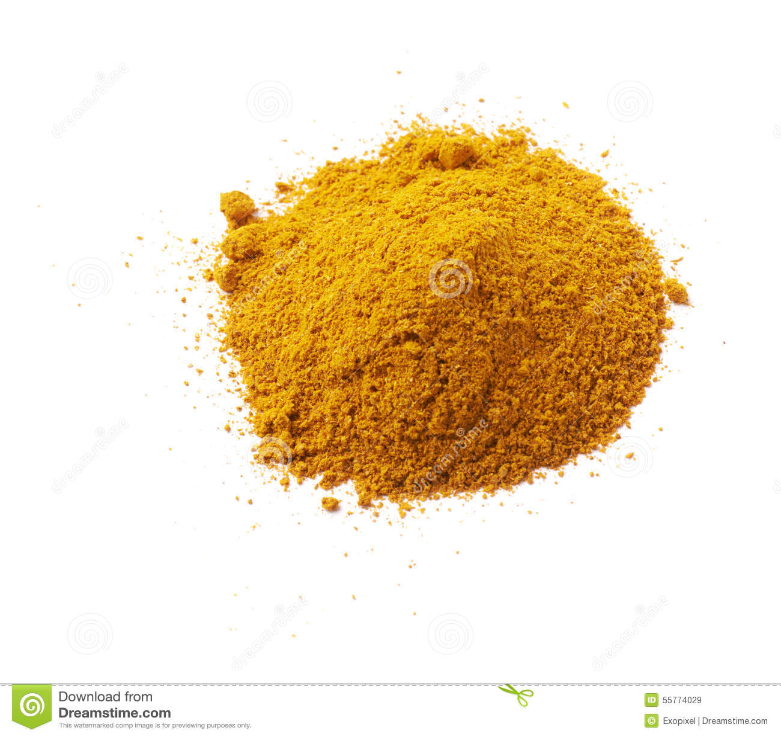 pile de curry jaune photo stock image 55774029. Black Bedroom Furniture Sets. Home Design Ideas