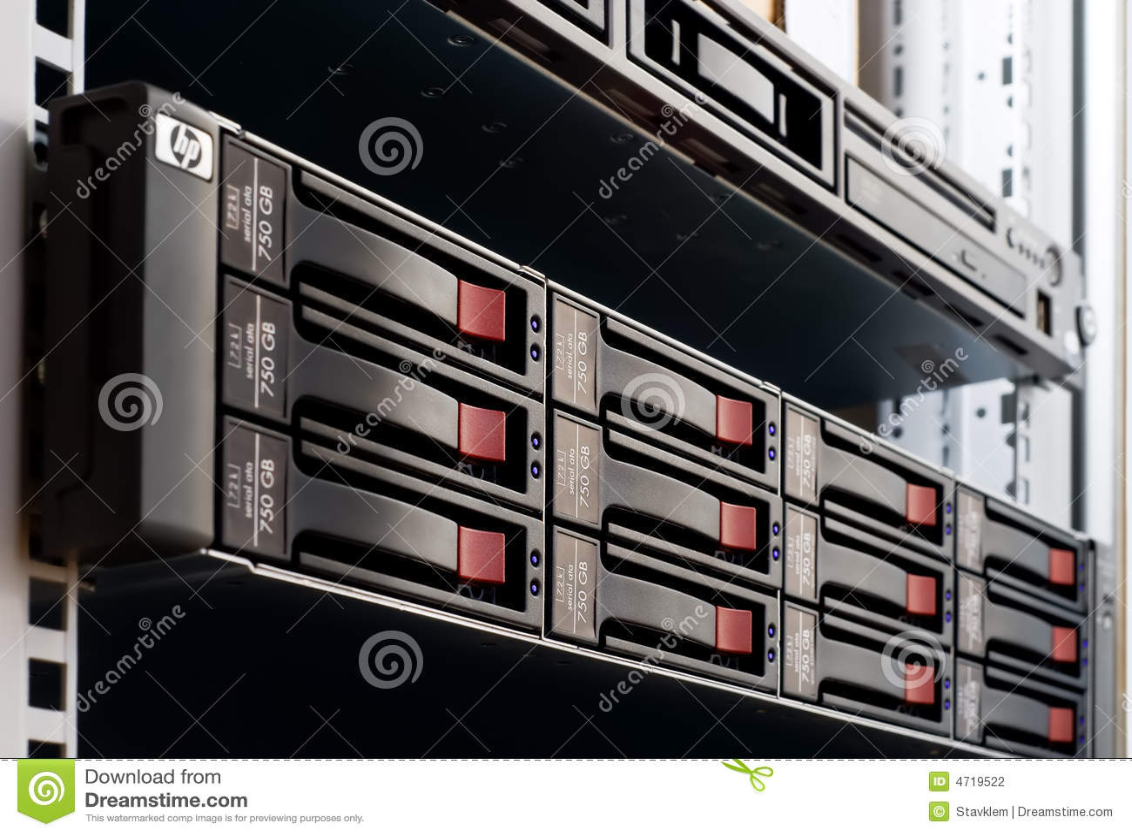 Pile de disques montée sur crémaillère