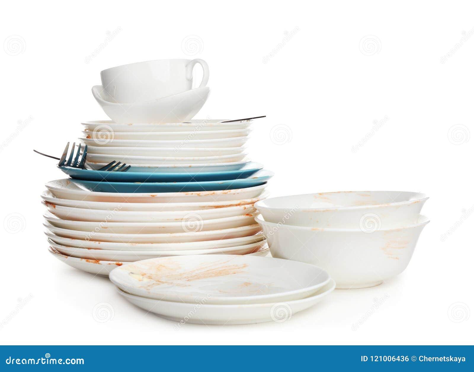 info pour d5ca1 0133b Pile De La Vaisselle De Cuisine Sale Photo stock - Image du ...