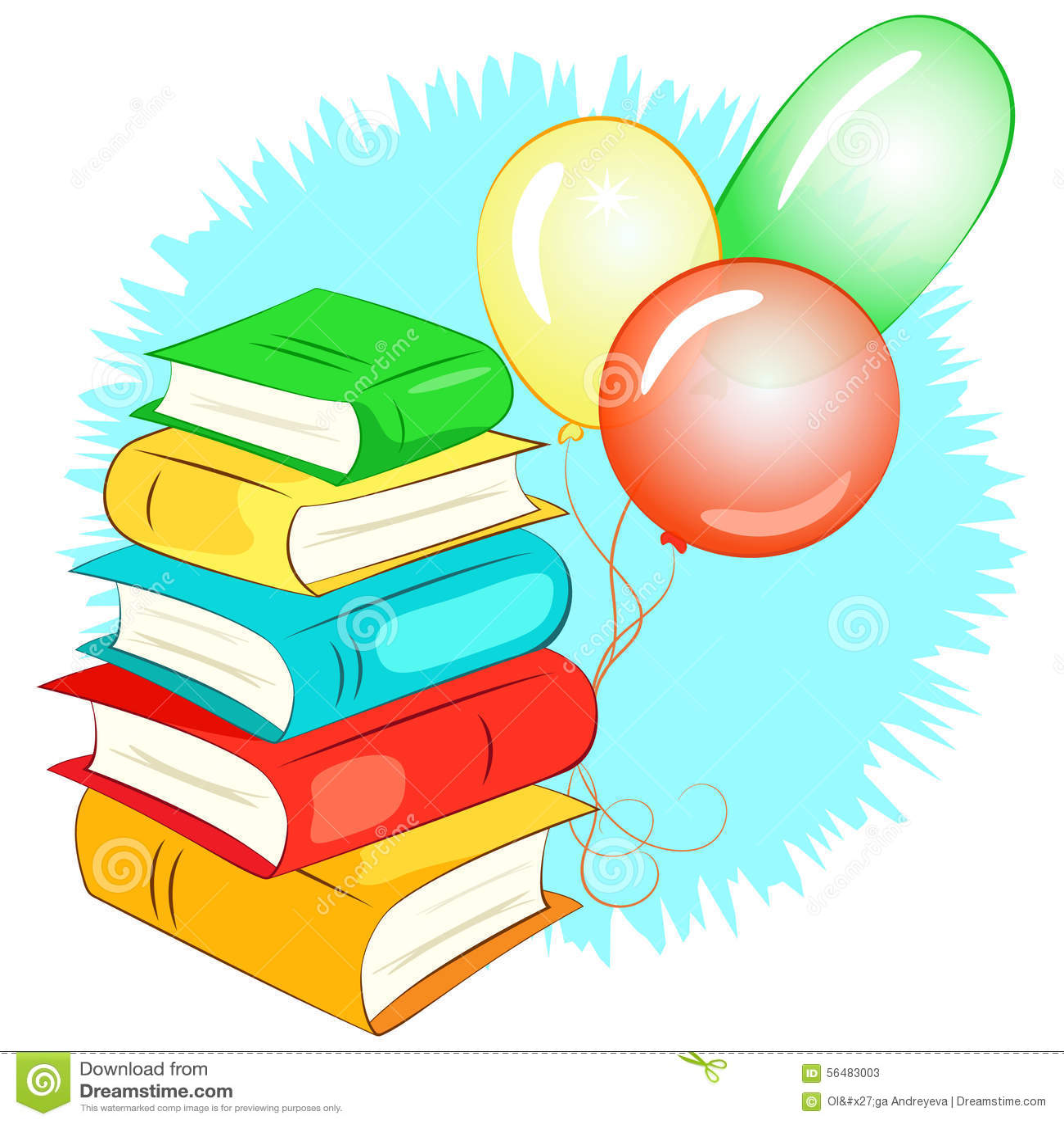 Pile de livres et de ballons