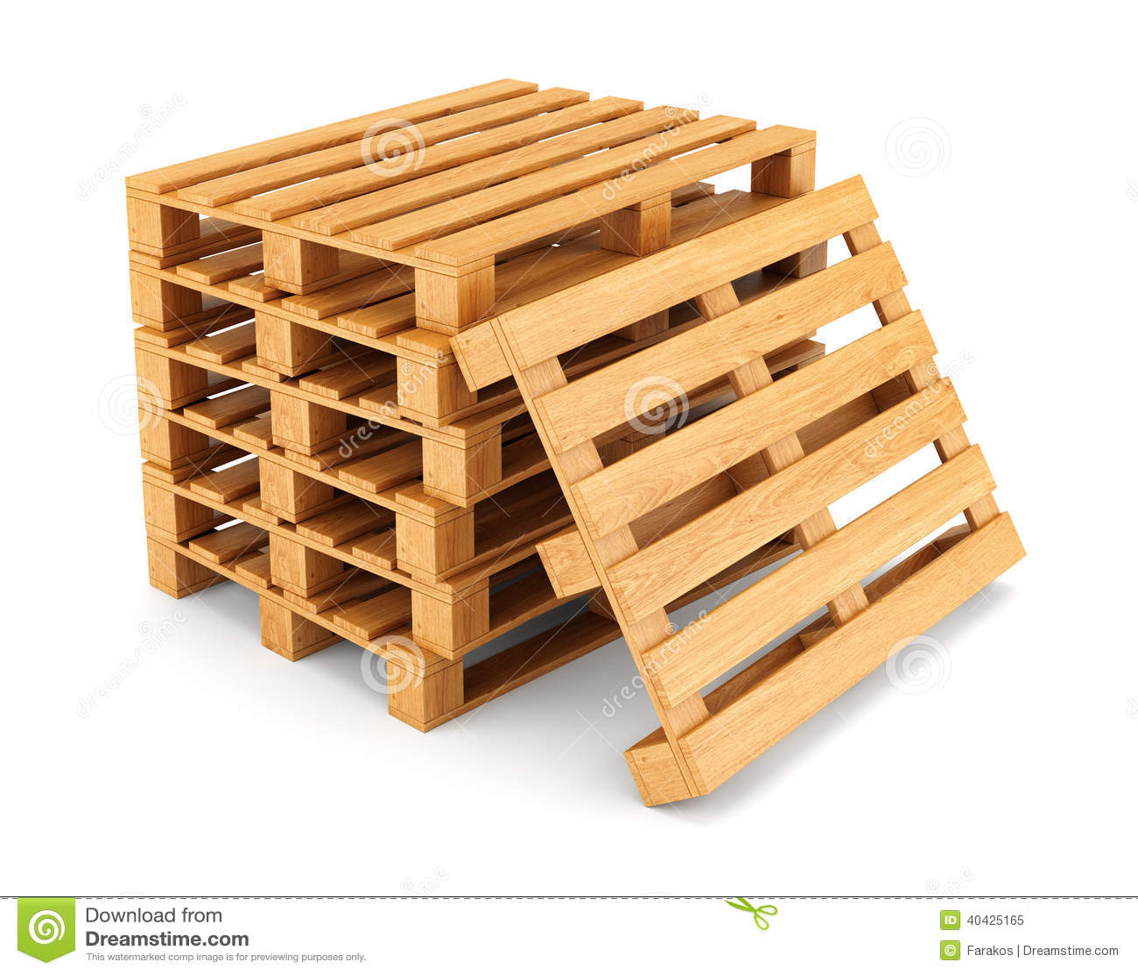 Pile de palettes en bois illustration stock image 40425165 - Construction palette ...