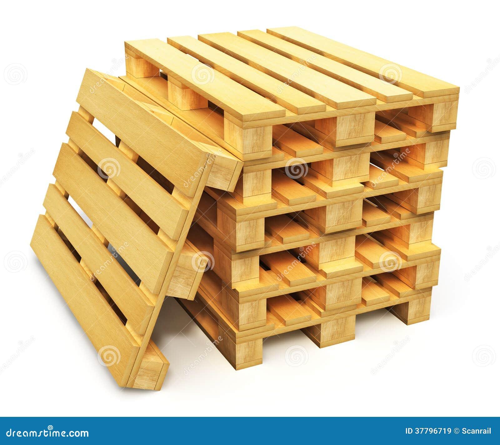 pile de palettes en bois d 39 exp dition illustration stock illustration du marchandises. Black Bedroom Furniture Sets. Home Design Ideas