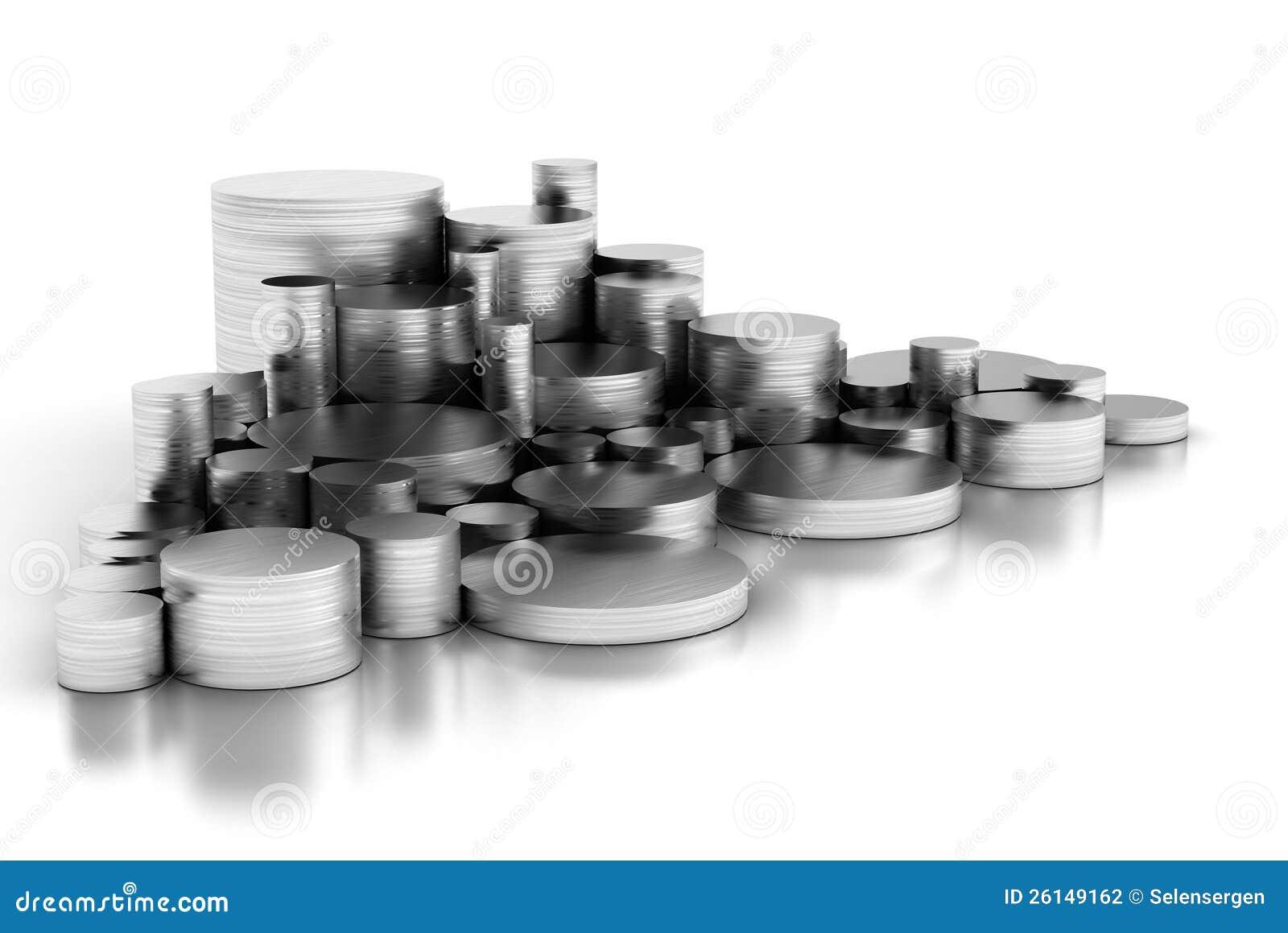 Pile de pipes en acier