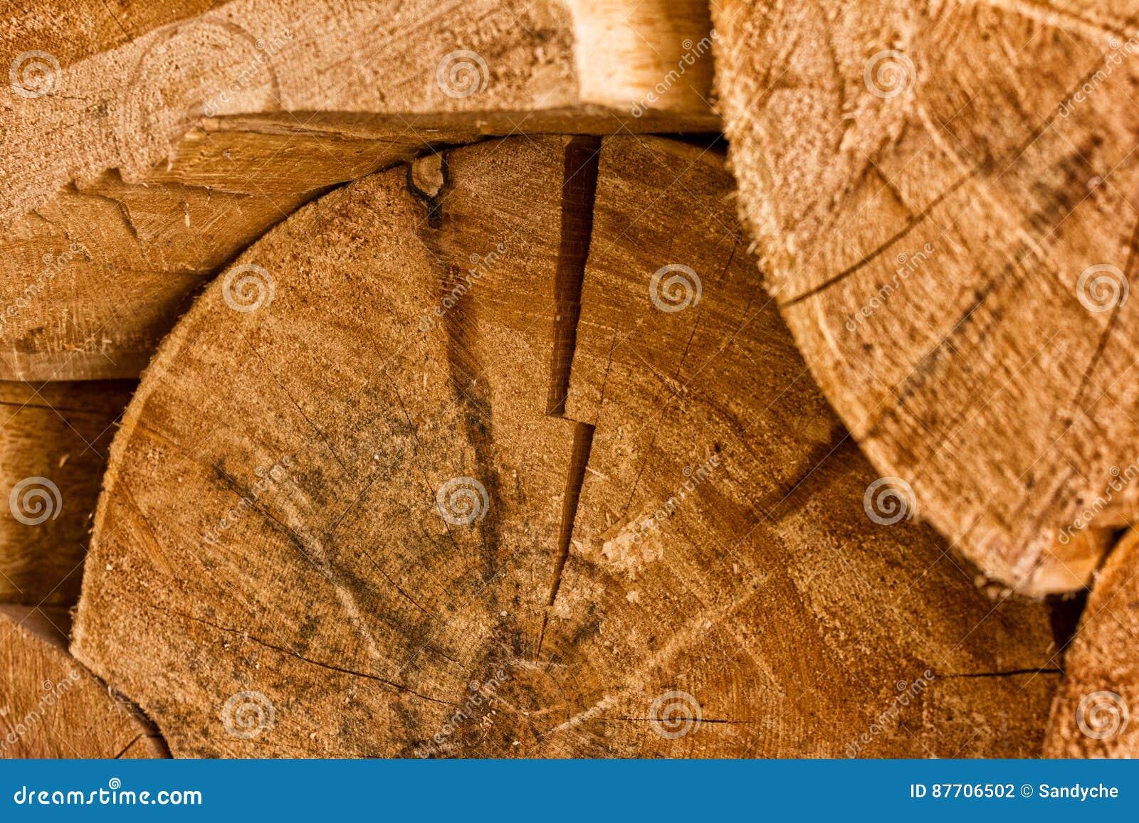 Pile de rondins en bois naturels fond de coupe en bois de pile