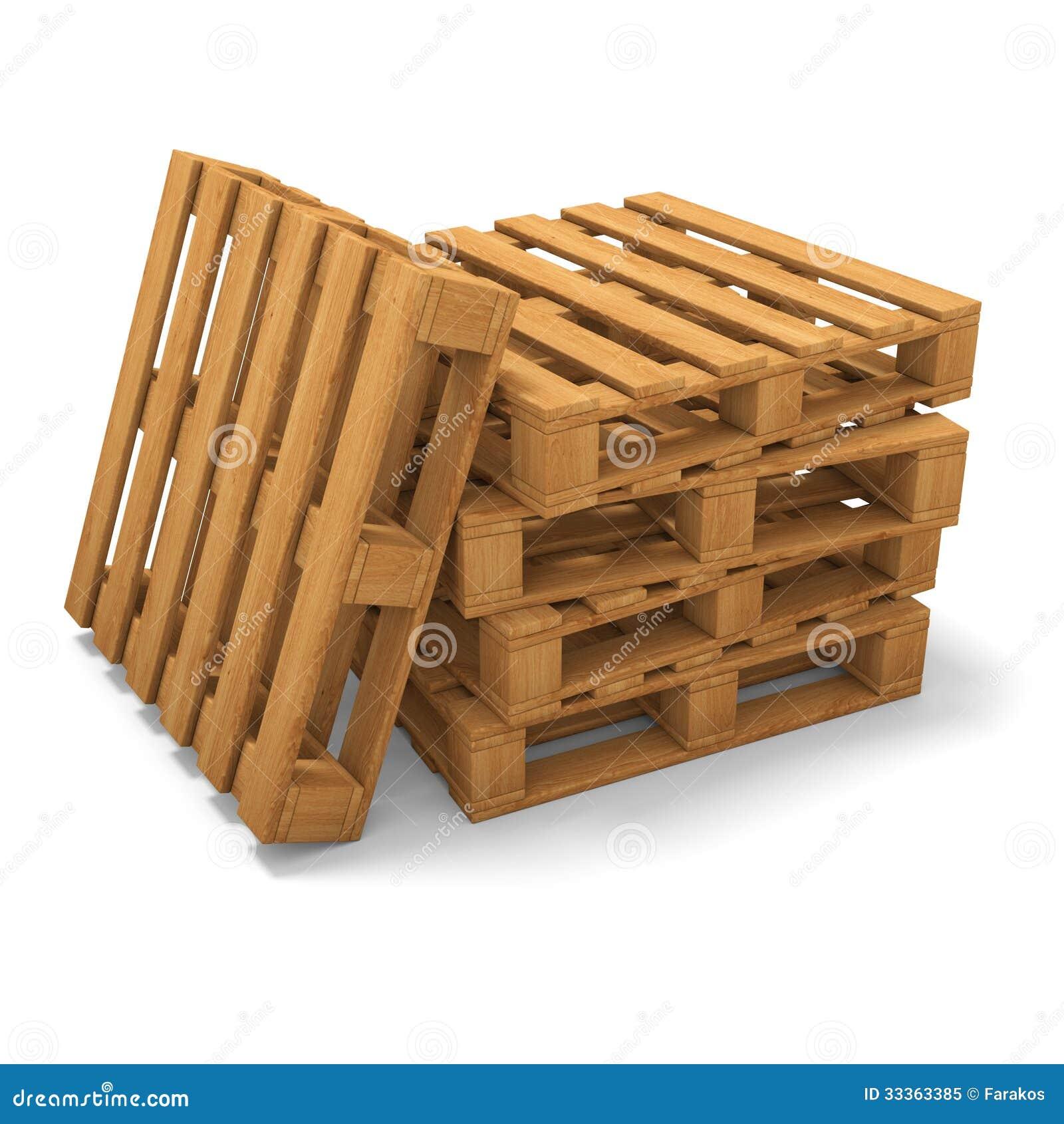 pile de trois palettes illustration stock illustration du timber 33363385. Black Bedroom Furniture Sets. Home Design Ideas