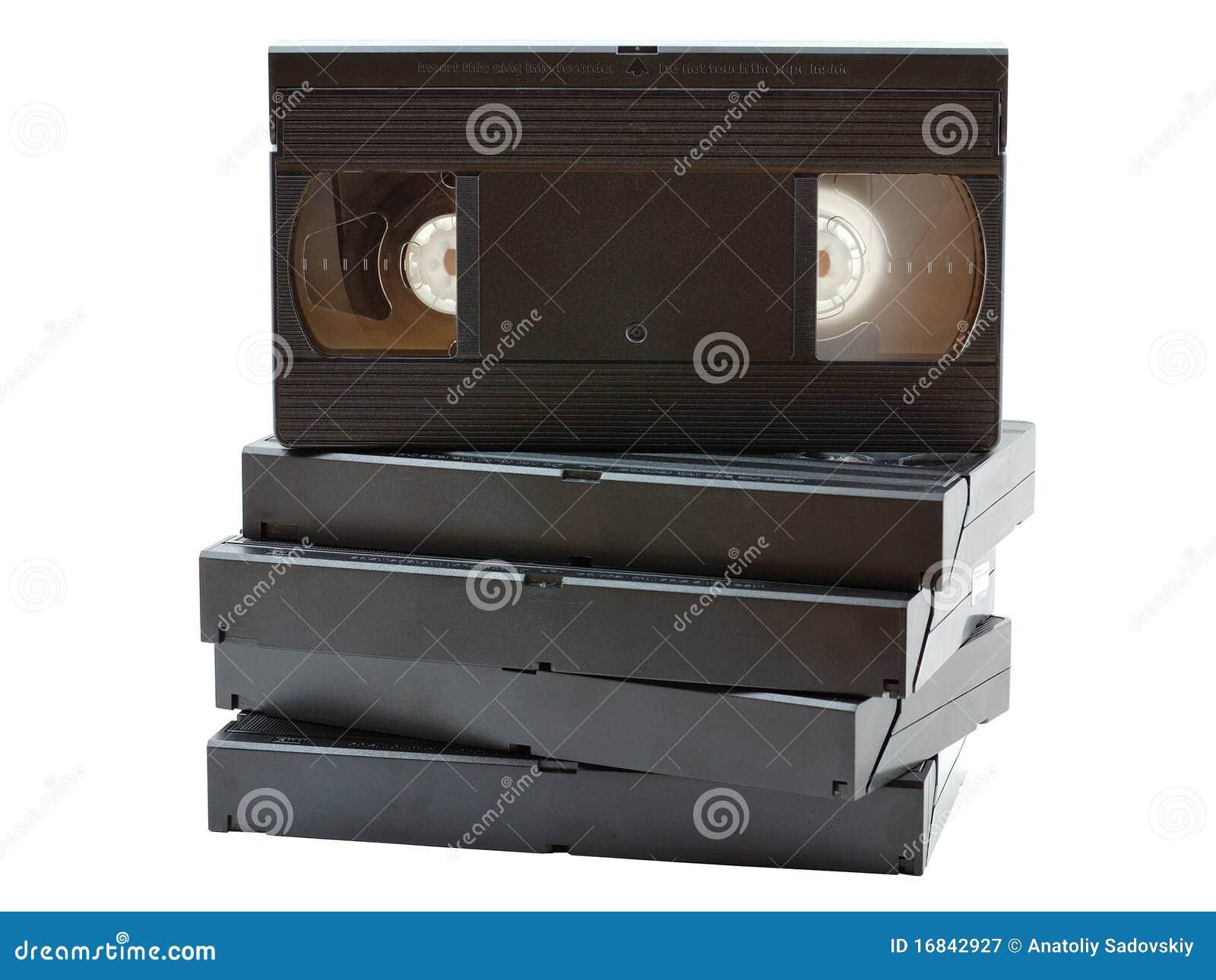 Pile de vieilles cassettes vidéo