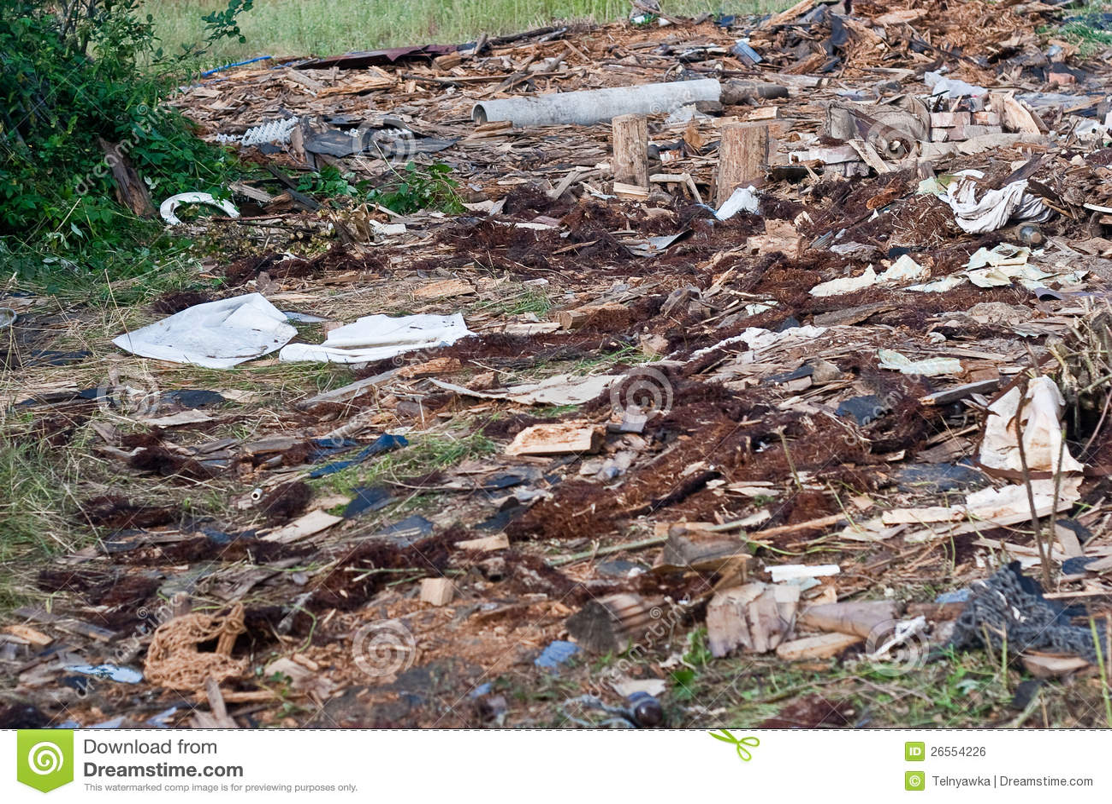 Pile Of Building Debris : A pile of debris royalty free stock image