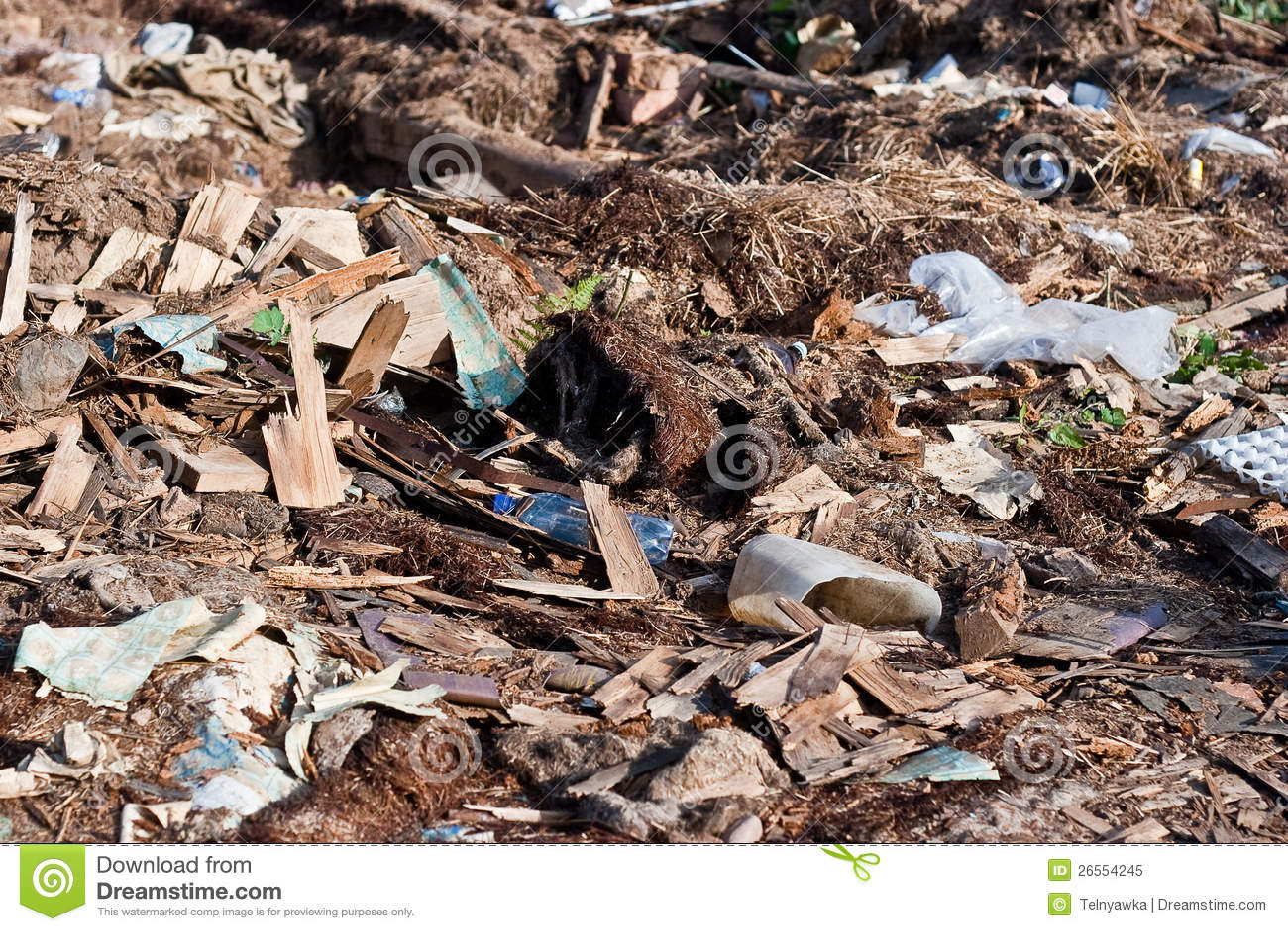 Pile Of Building Debris : A pile of debris royalty free stock photo image