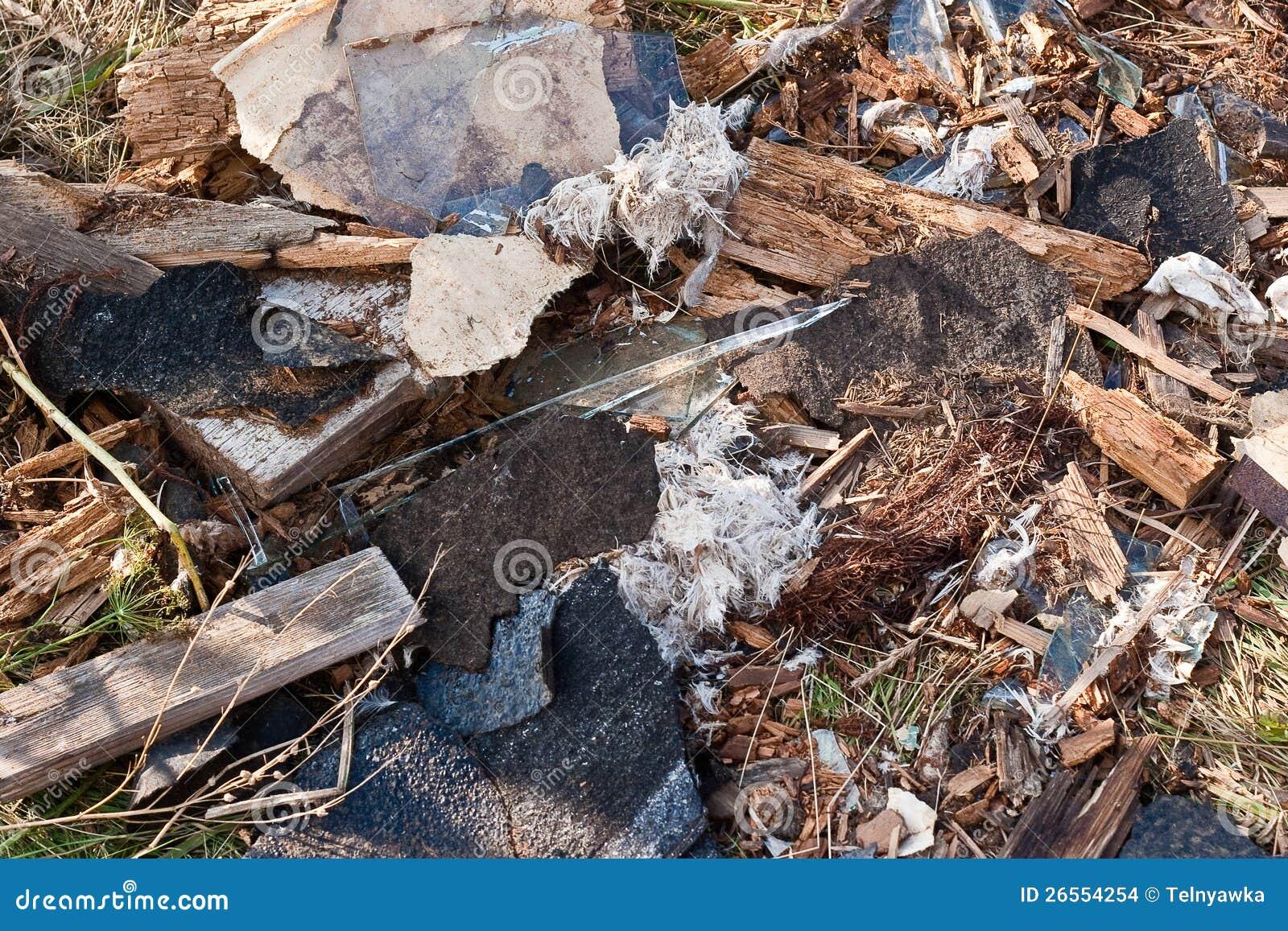 Pile Of Building Debris : A pile of debris stock images image