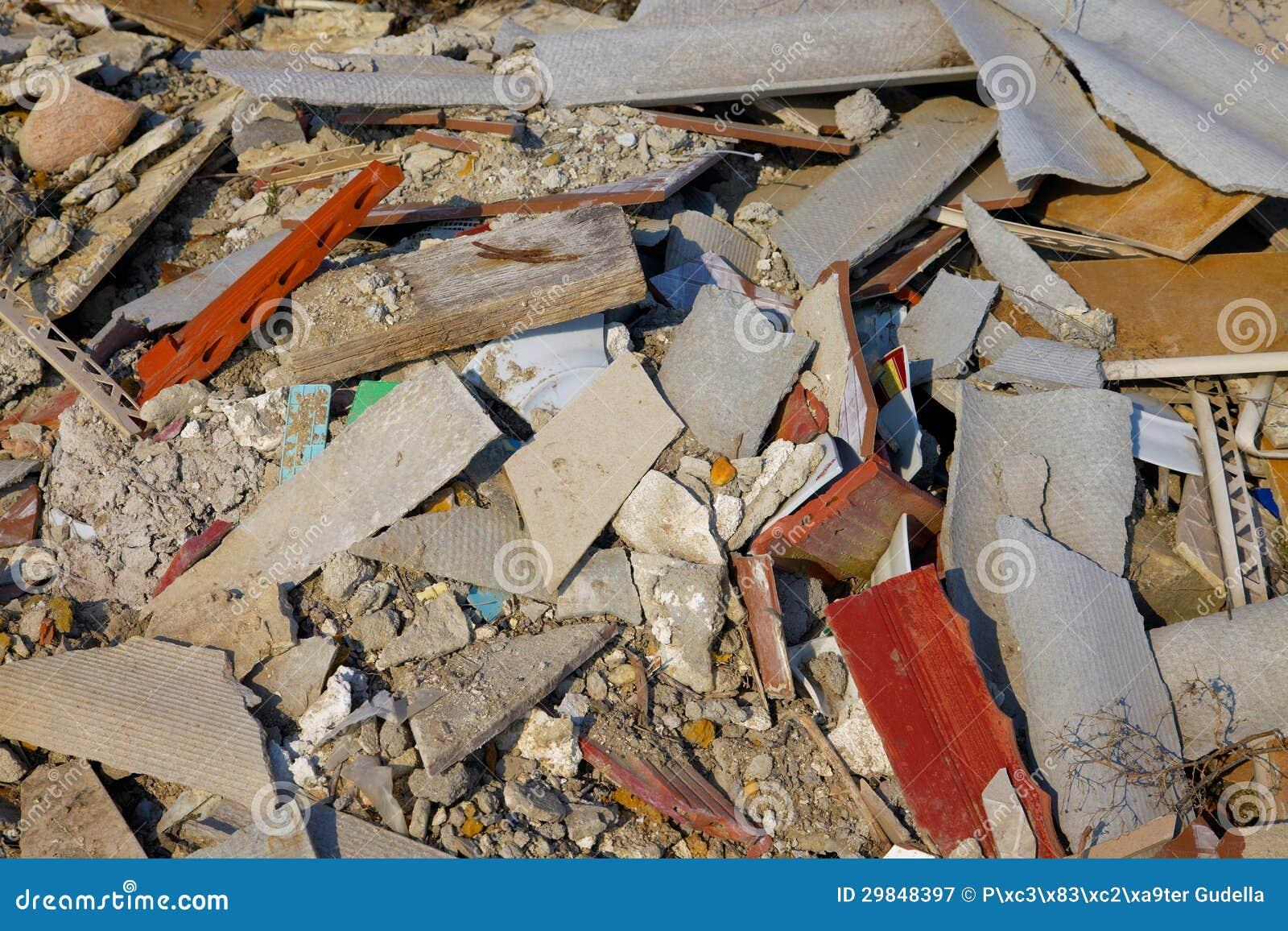 Pile Of Building Debris : Debris royalty free stock photography image