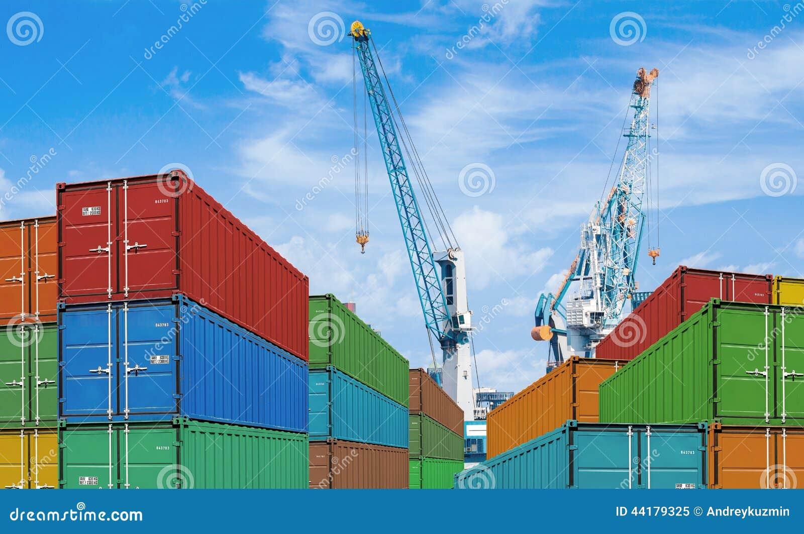 Pile del contenitore di carico di trasporto dell importazione o dell esportazione