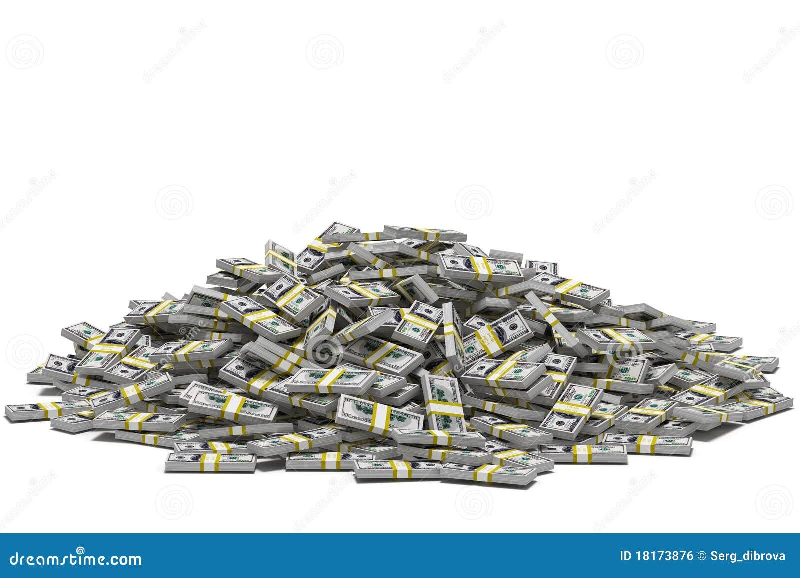 Pile des dollars