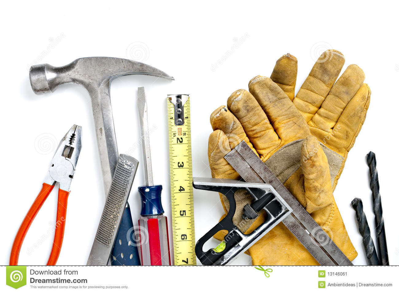 Pile des outils de construction image stock image 13146061 for Outil de construction