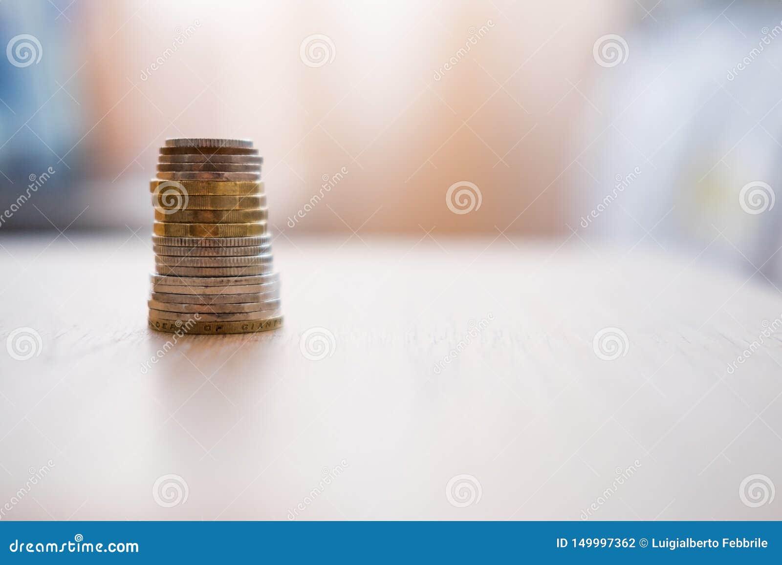 Pile des pi?ces de monnaie