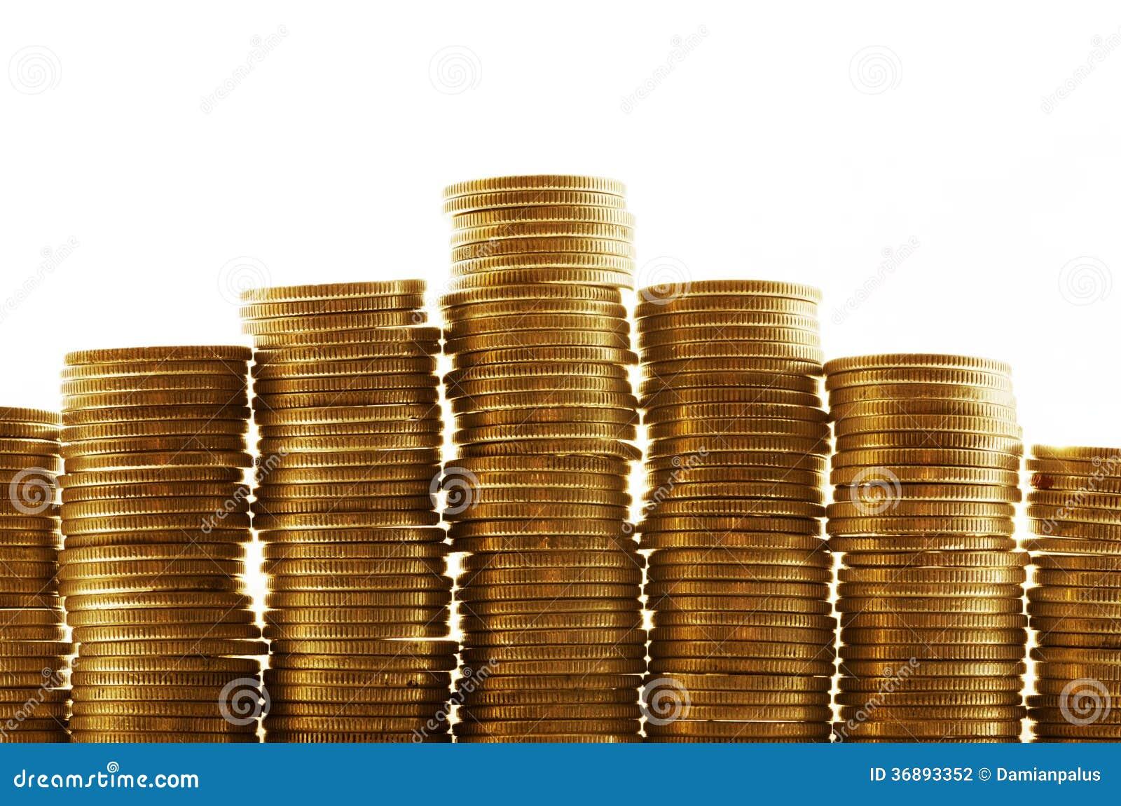 Download Pile di monete fotografia stock. Immagine di contabilità - 36893352
