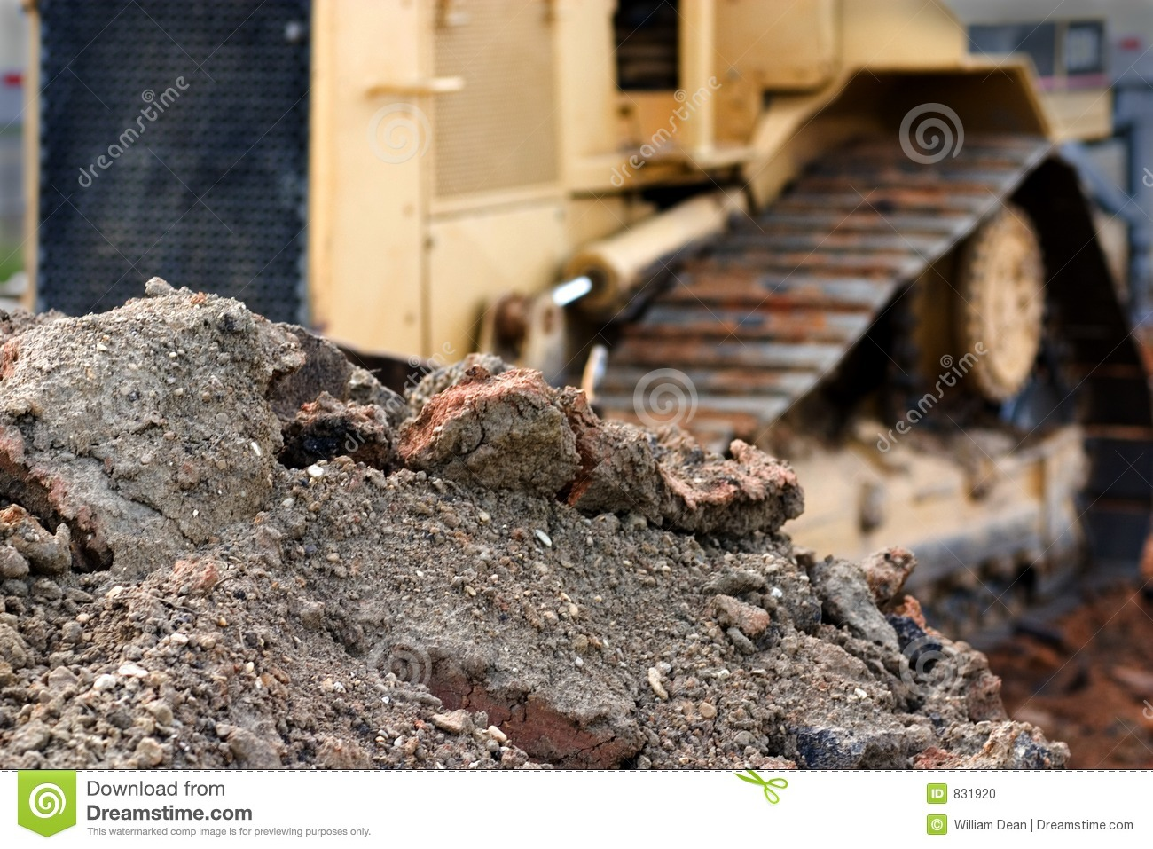 Pile of dirt and rocks