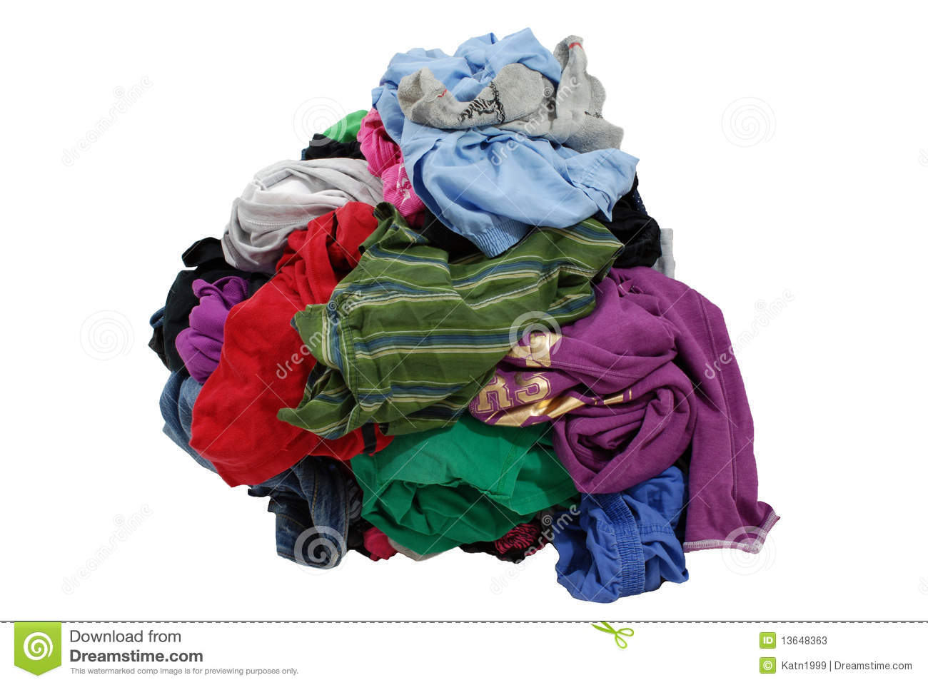 Pile Of Dirty Laundry Stock Photos - Image: 13648363
