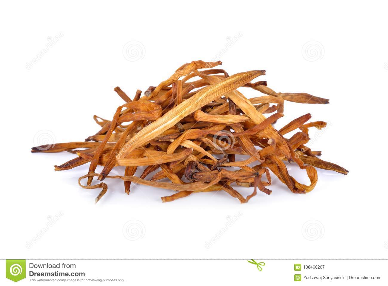 Pile of dried day lily flower on white background stock image royalty free stock photo izmirmasajfo