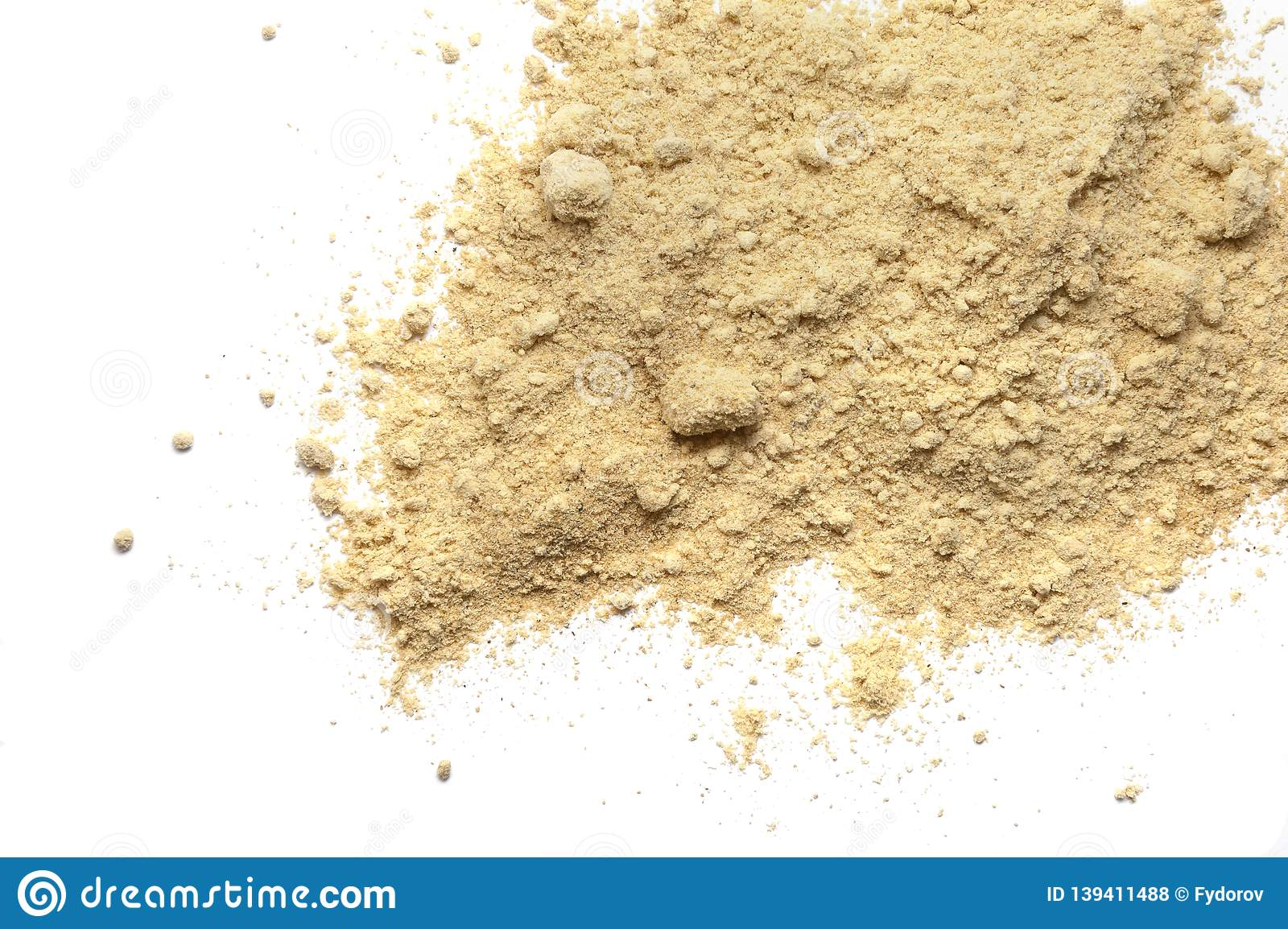 Pile Of Dry Mustard Powder Isolated On White Stock Photo Image Of Spicy Ground 139411488