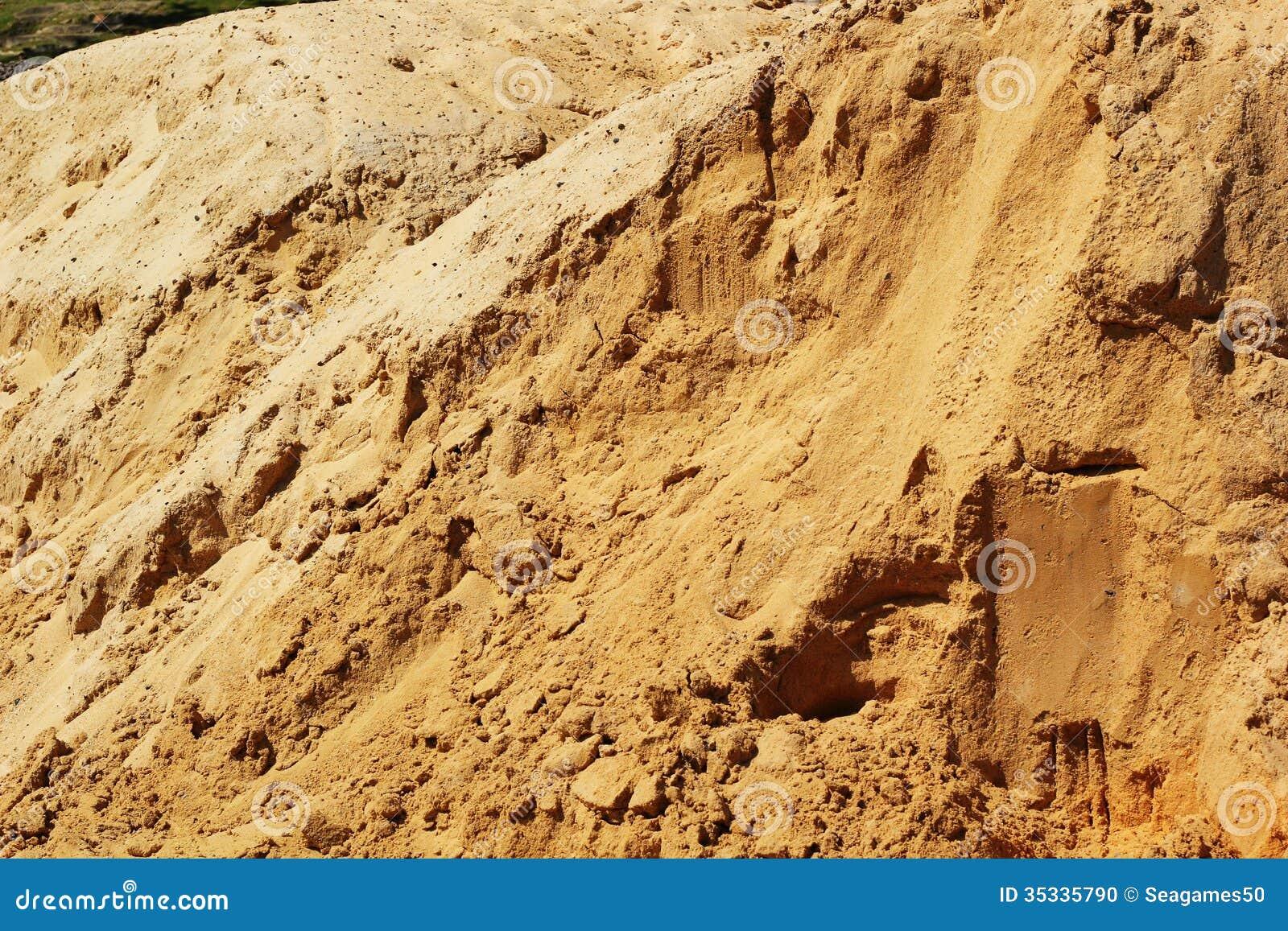 pile du sable pour la construction photo stock image 35335790. Black Bedroom Furniture Sets. Home Design Ideas