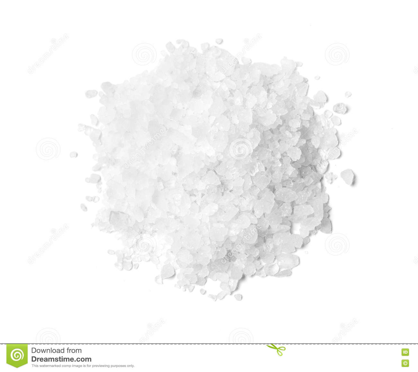 Pile du sel gemme blanc