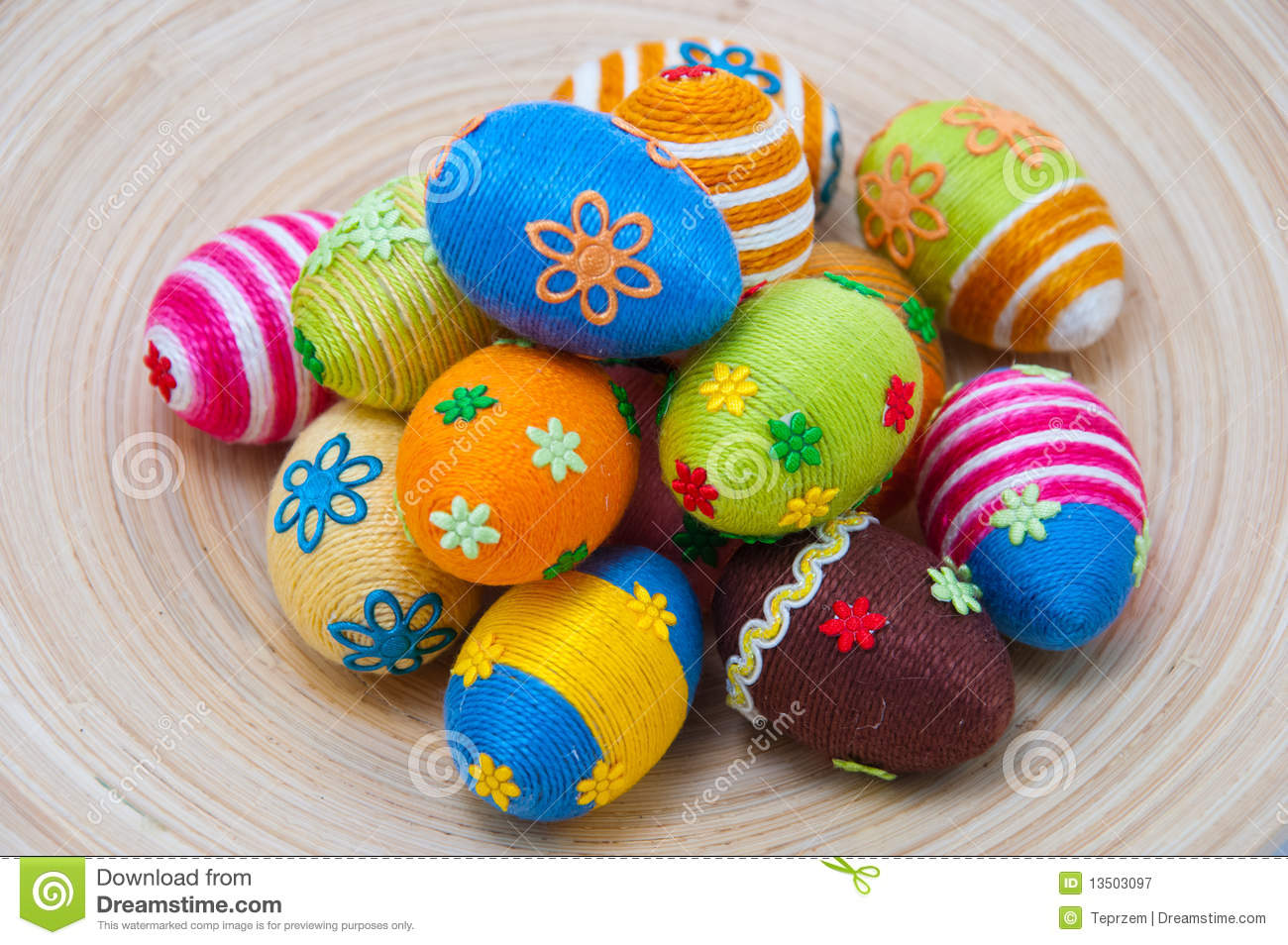pile of easter eggs on wood royalty free stock photography image