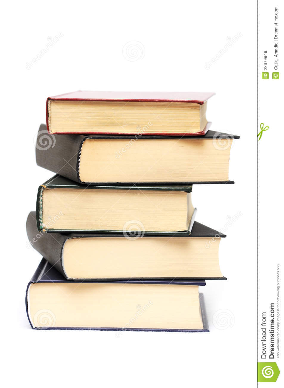 Pile of five books