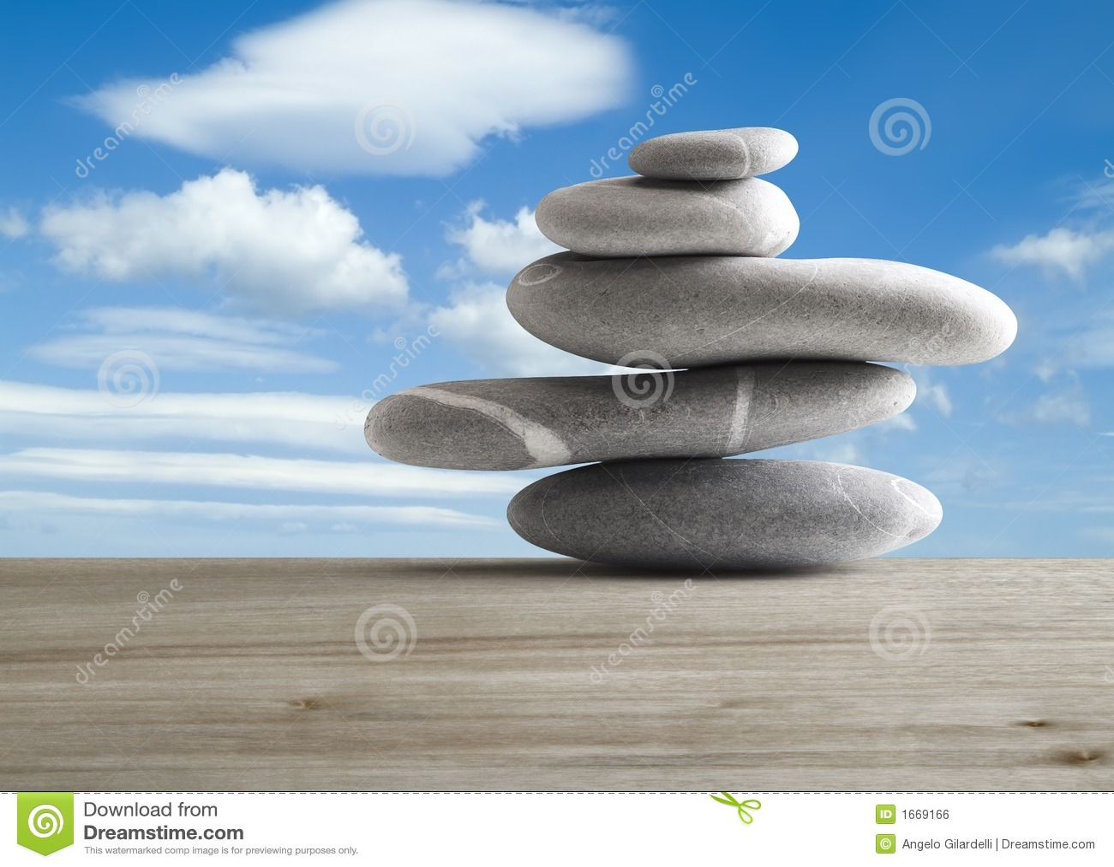 Pile of five stones