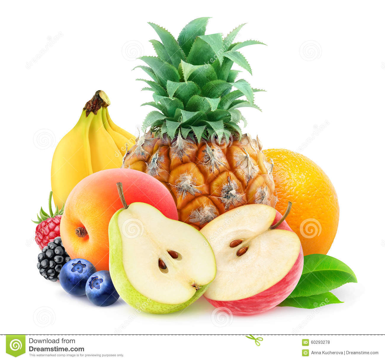 Pile of fresh fruits
