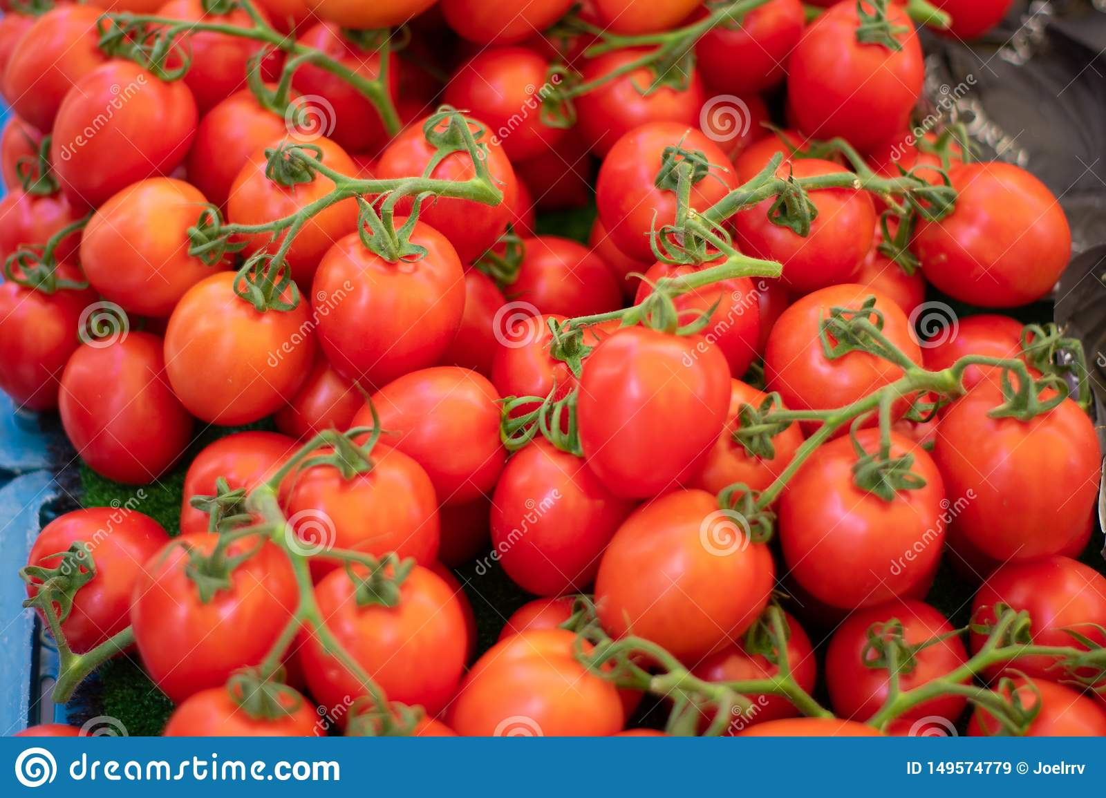 Pile of fresh grape tomatoes