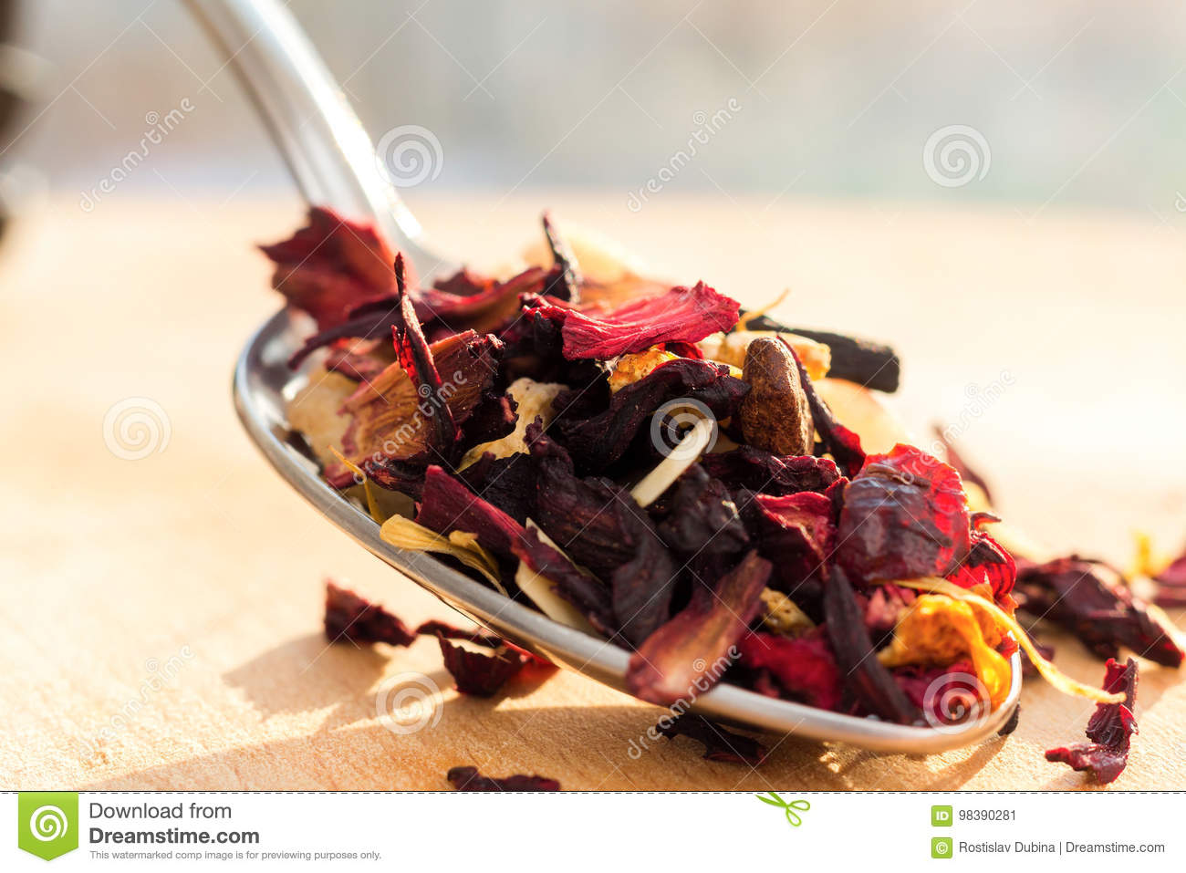 Pile of fruit tea with petals and dry fruit e composition of the pile of fruit tea with petals and dry fruit e composition of the heap of tea leaves and dried hibiscus flower izmirmasajfo Images