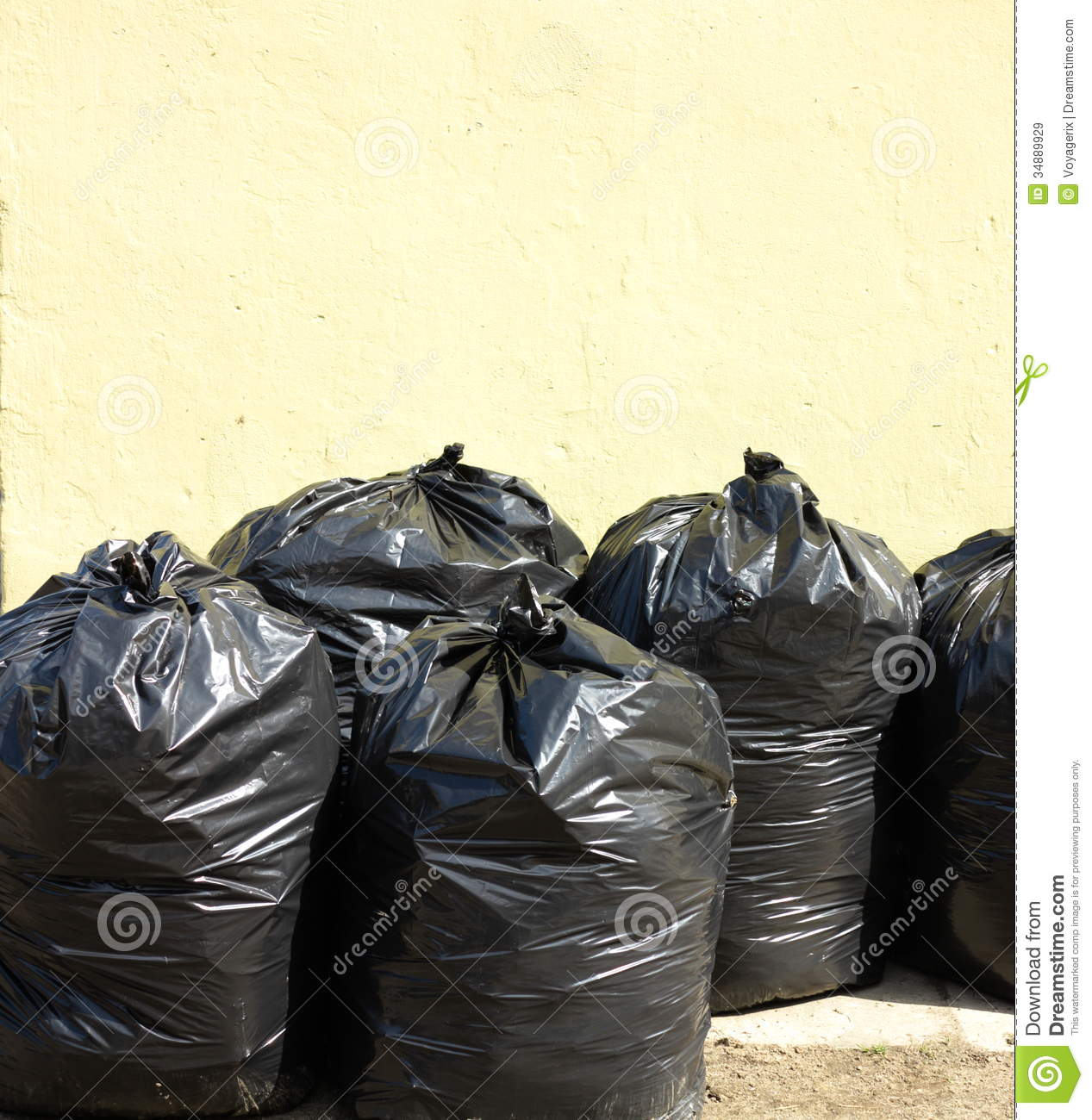 Pile Of Full Black Garbage Bags Royalty Free Stock Images ...