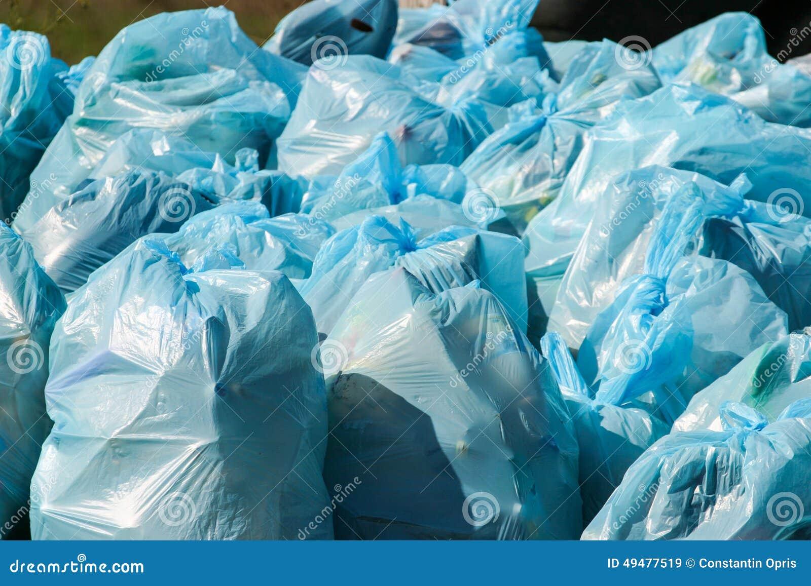 Pile Of Garbage Bags Stock Photo - Image: 49477519