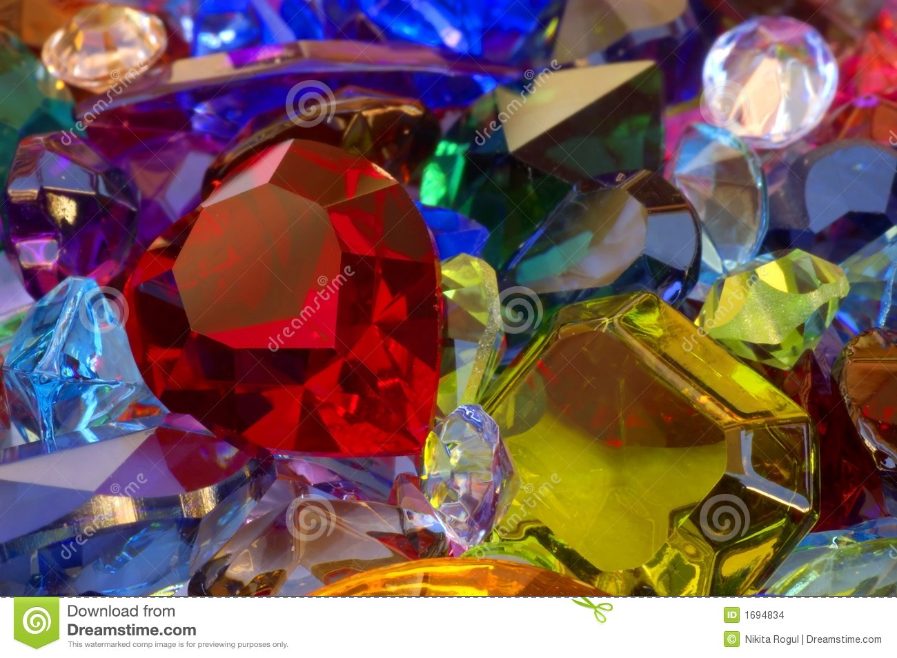 Pile Of Gems Stock Photo Image Of Color Heart Pile
