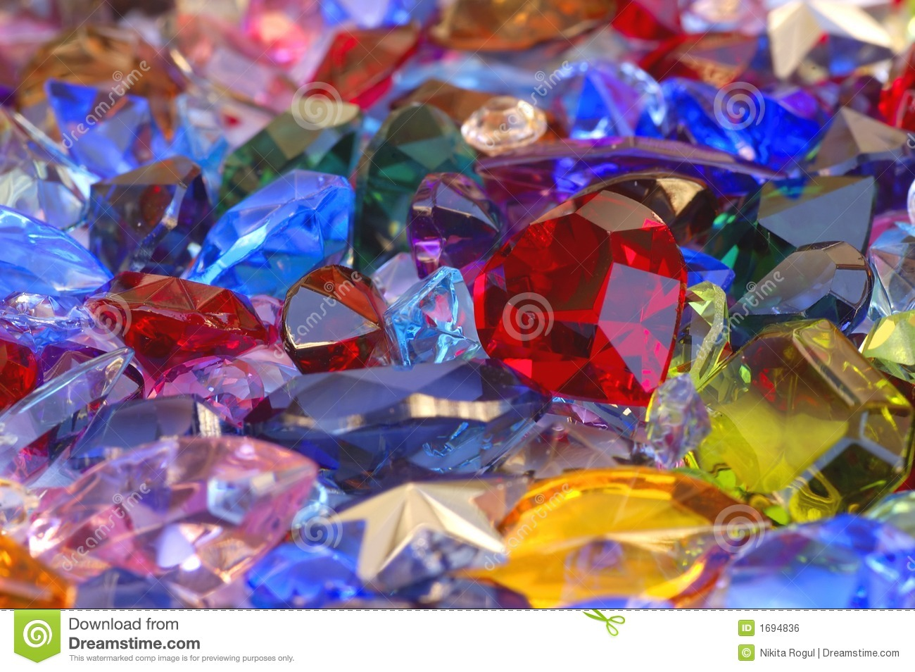Pile Of Gems Stock Photo Image Of Background Oval