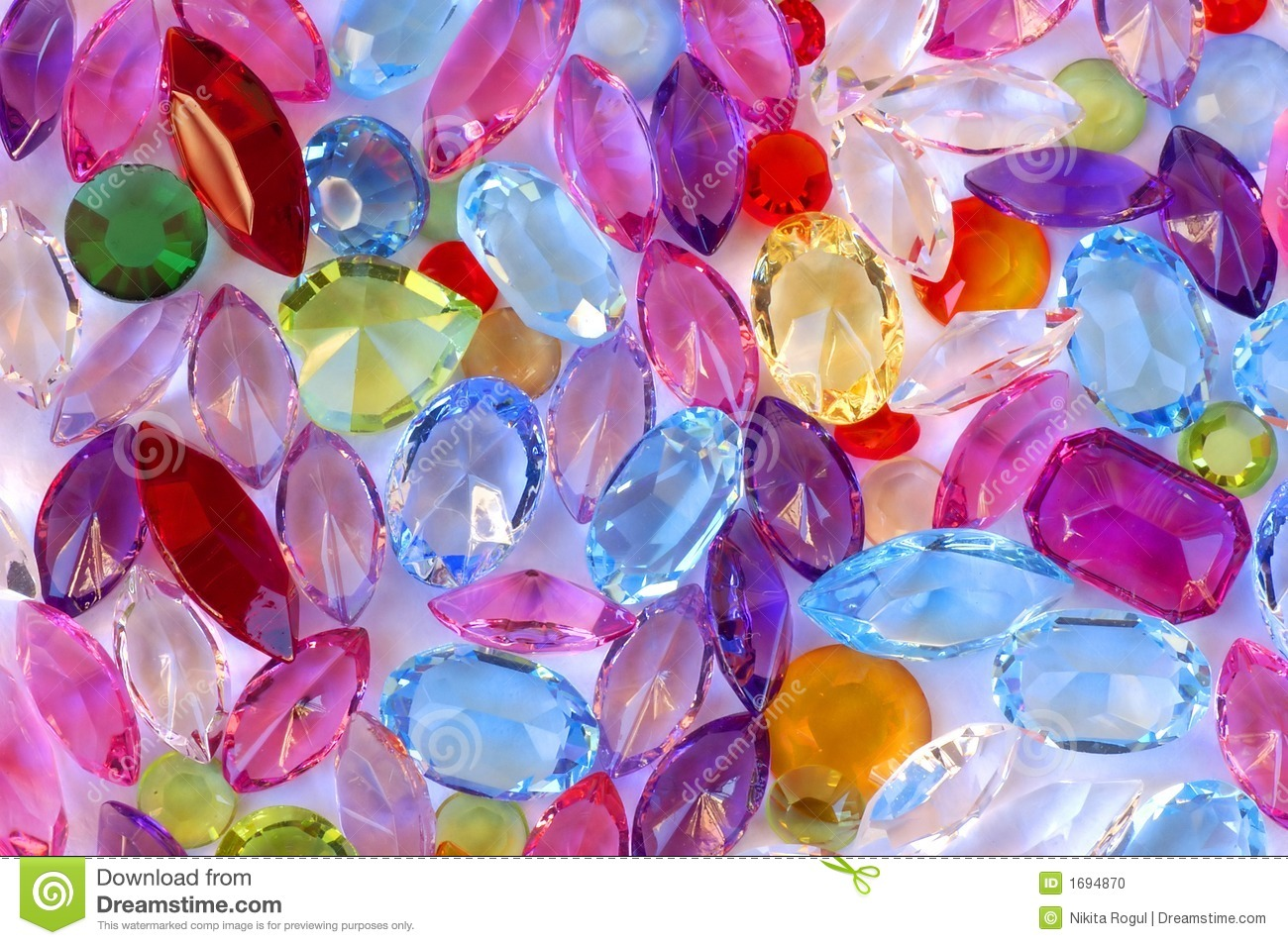 Pile Of Gems Stock Photo Image Of Bright Expensive Pink