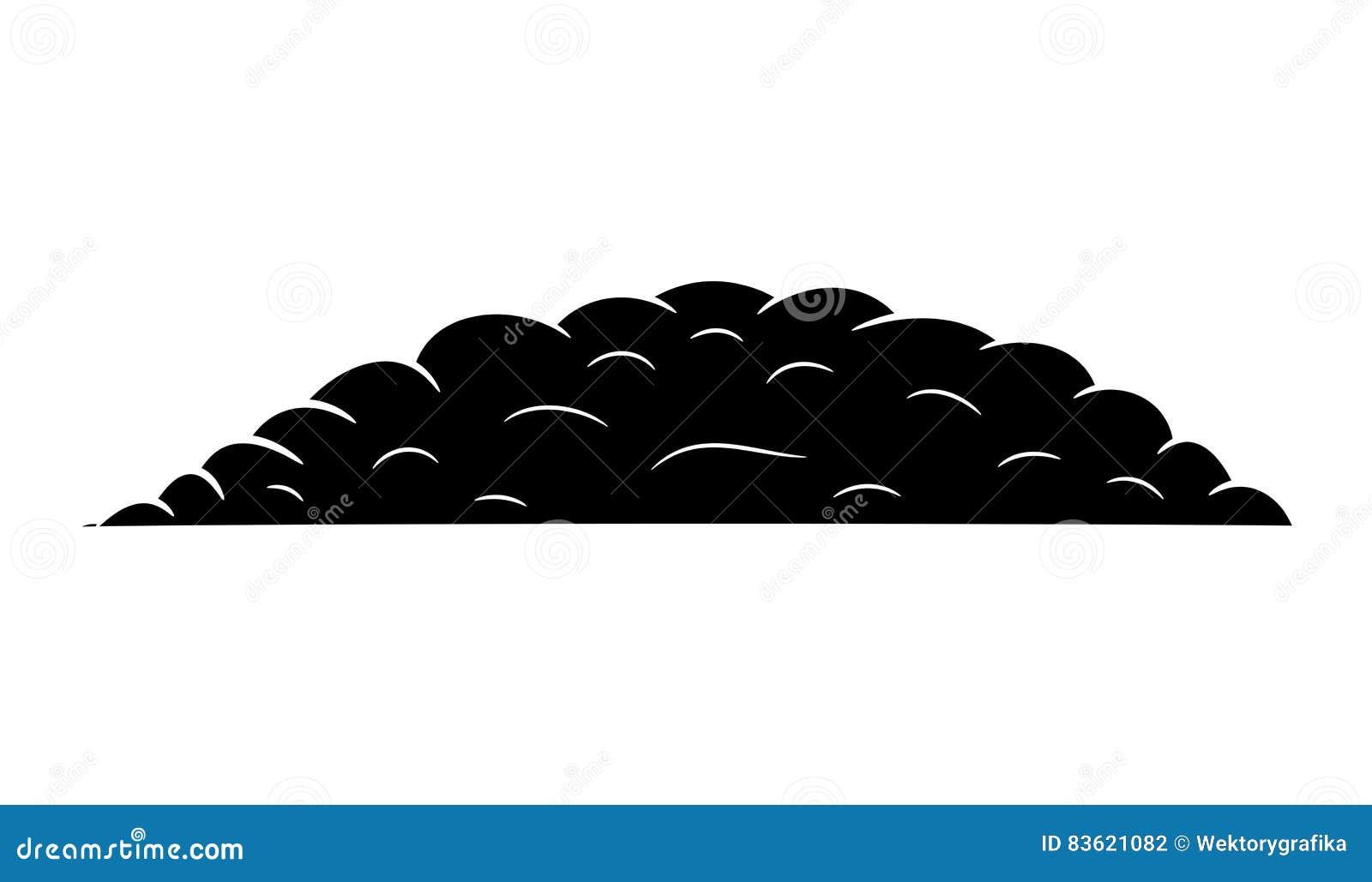 Pile Of Ground Silhouette Vector Symbol Icon Design. Stock ...Pile Icon
